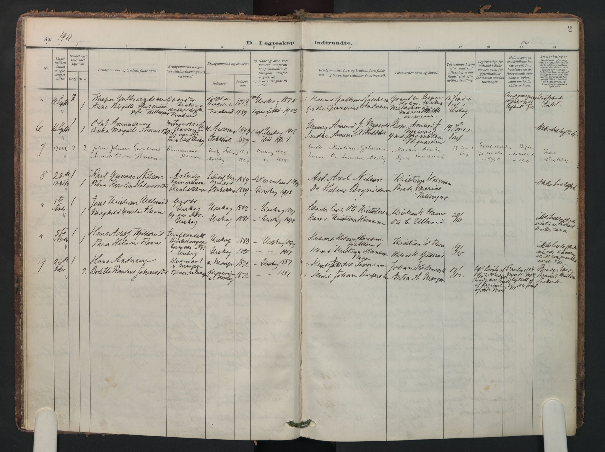 SAO, Aurskog prestekontor Kirkebøker, F/Fa/L0016: Parish register (official) no. I 16, 1910-1934, p. 2