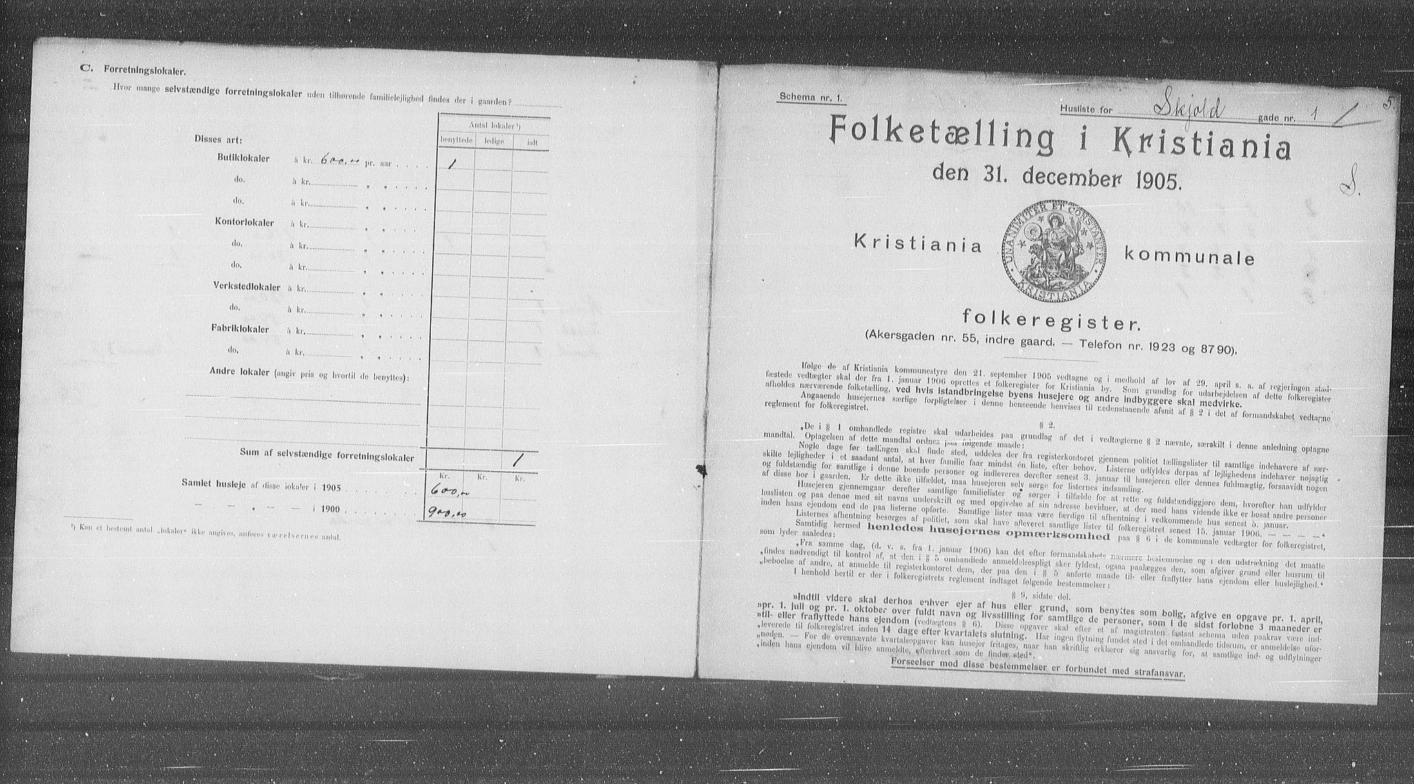OBA, Municipal Census 1905 for Kristiania, 1905, p. 49887