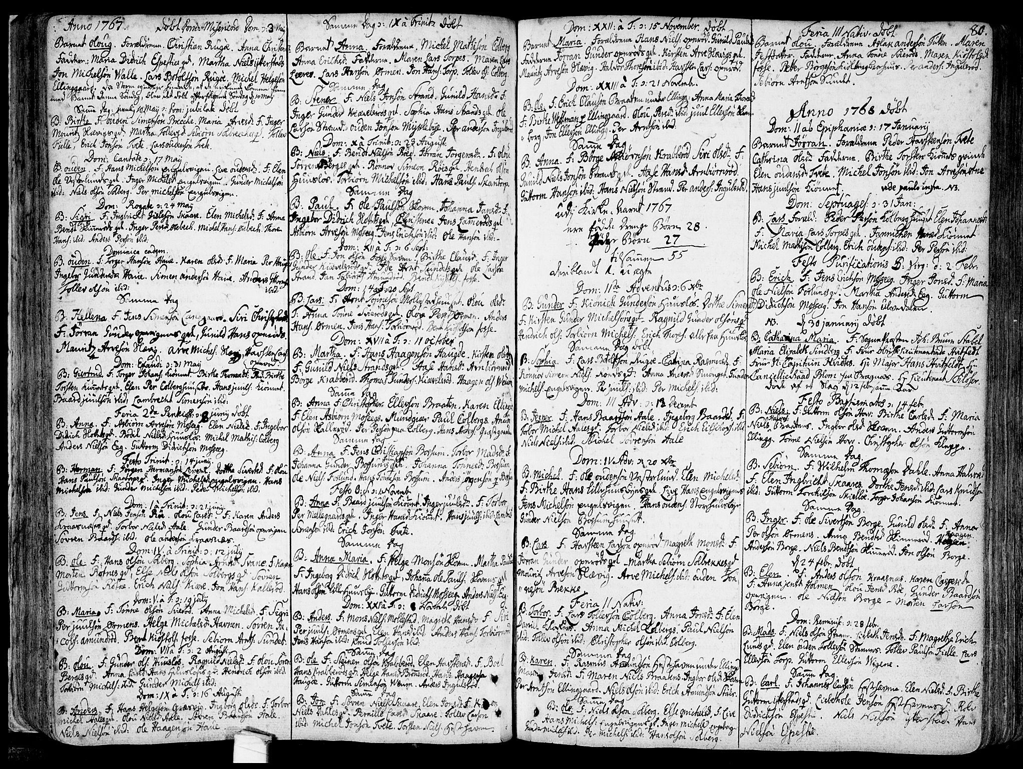 SAO, Onsøy prestekontor Kirkebøker, F/Fa/L0001: Parish register (official) no. I 1, 1733-1814, p. 80