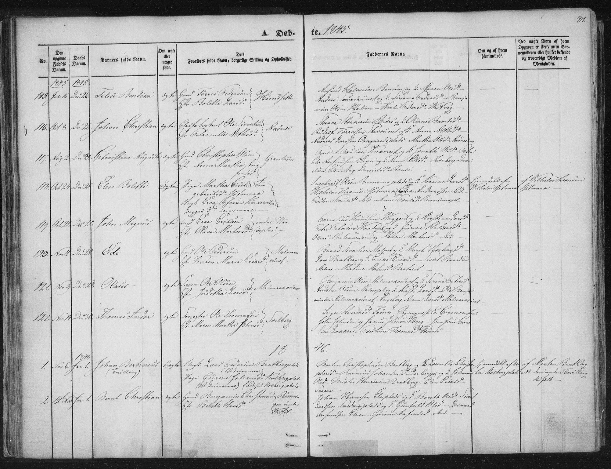SAT, Ministerialprotokoller, klokkerbøker og fødselsregistre - Nord-Trøndelag, 741/L0392: Parish register (official) no. 741A06, 1836-1848, p. 81