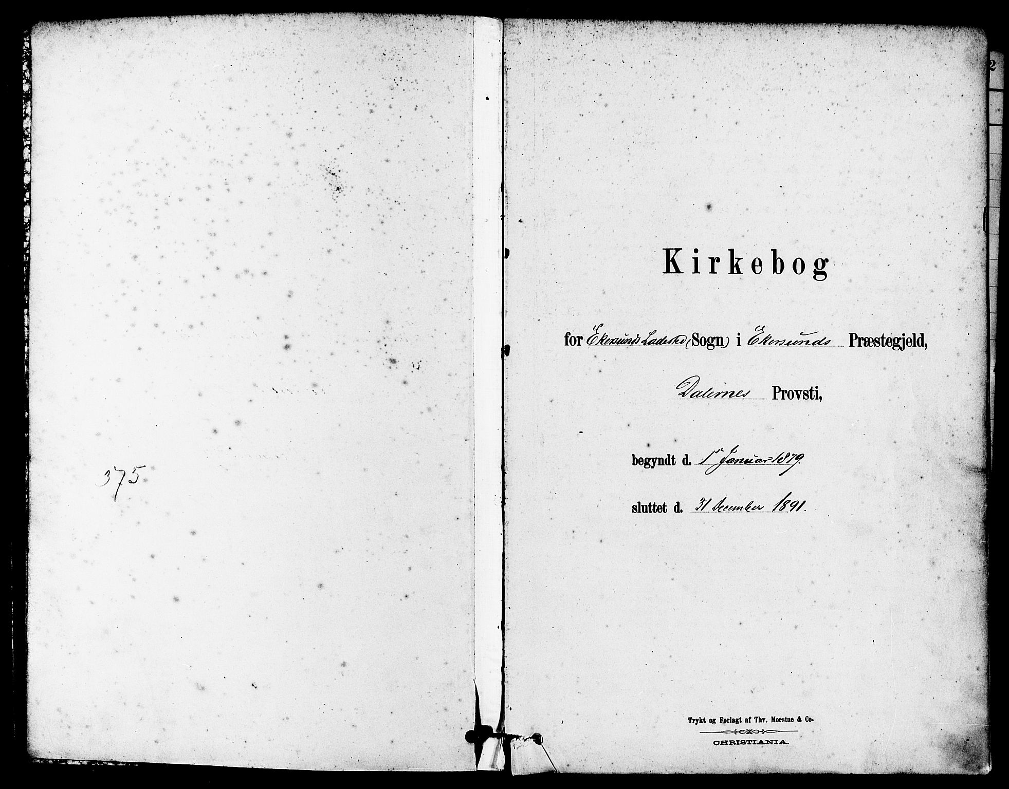 SAST, Egersund sokneprestkontor, S08/L0015: Parish register (official) no. A 15, 1879-1892