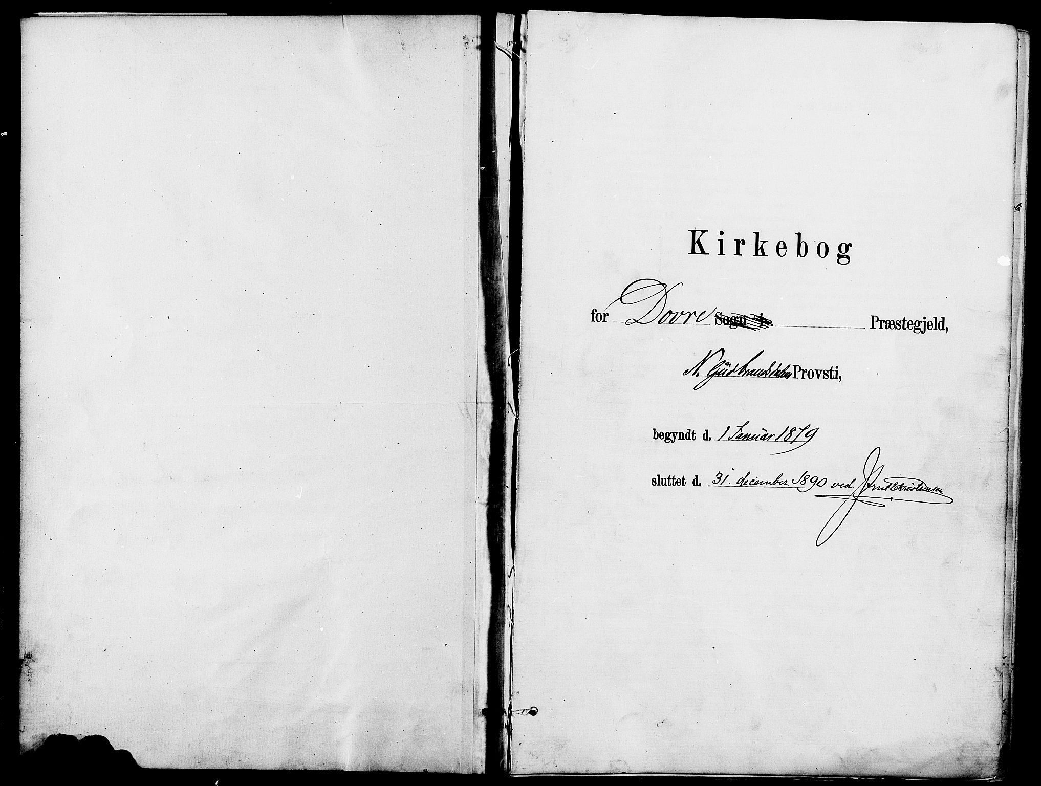 SAH, Dovre prestekontor, Parish register (official) no. 2, 1879-1890