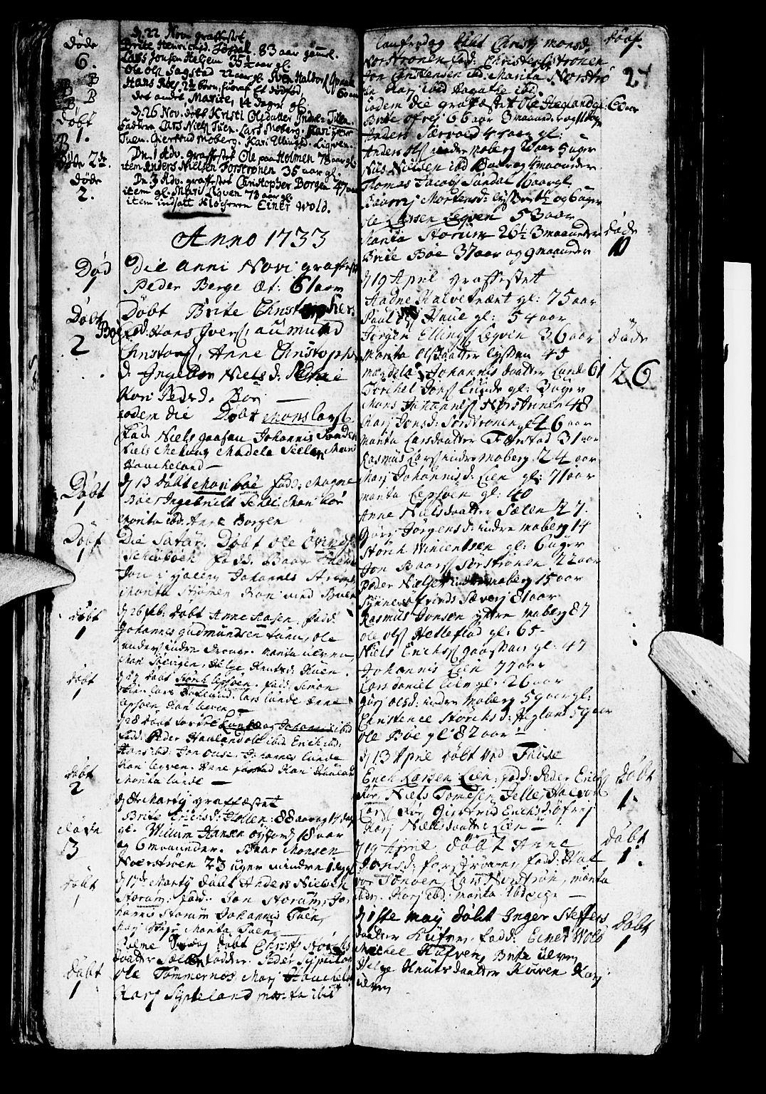 SAB, Os sokneprestembete*, Parish register (official) no. A 2, 1723-1758, p. 24