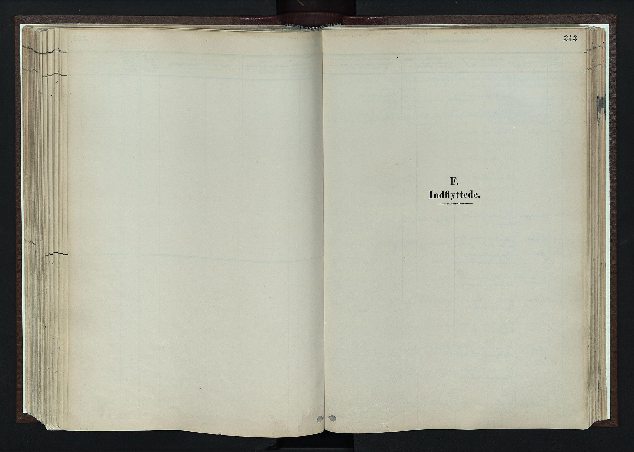 SAH, Nord-Fron prestekontor, Parish register (official) no. 4, 1884-1914, p. 243