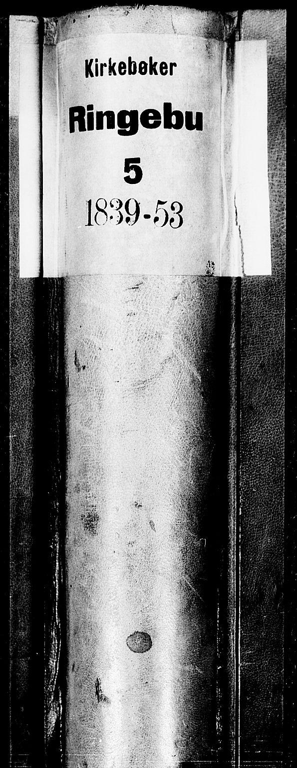 SAH, Ringebu prestekontor, Parish register (copy) no. 2, 1839-1853