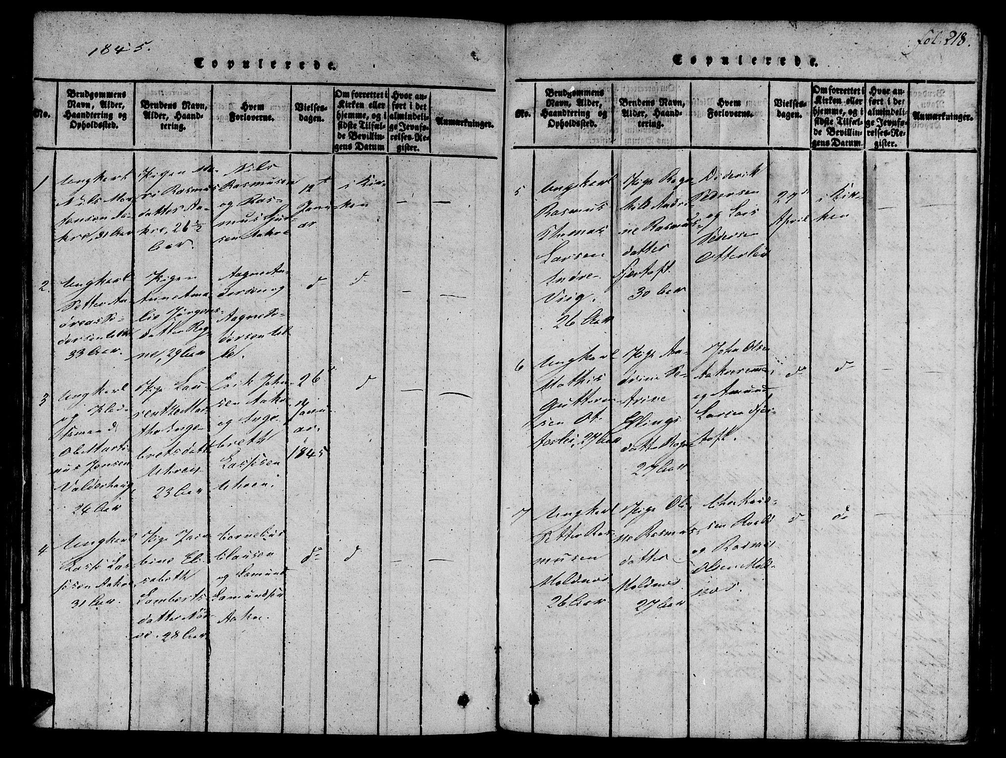 SAT, Ministerialprotokoller, klokkerbøker og fødselsregistre - Møre og Romsdal, 536/L0495: Parish register (official) no. 536A04, 1818-1847, p. 218