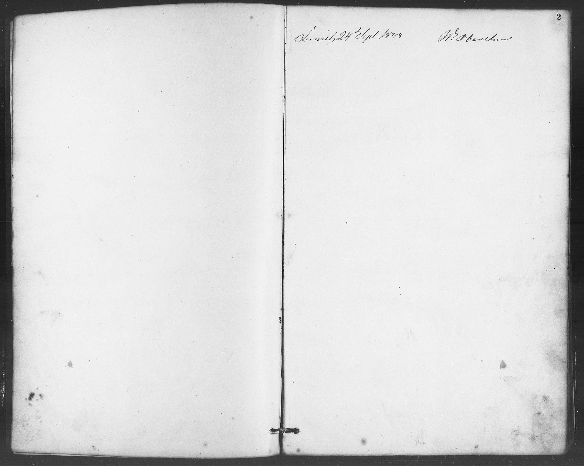 SAB, Evanger sokneprestembete*, Parish register (copy) no. A 4, 1887-1897, p. 2