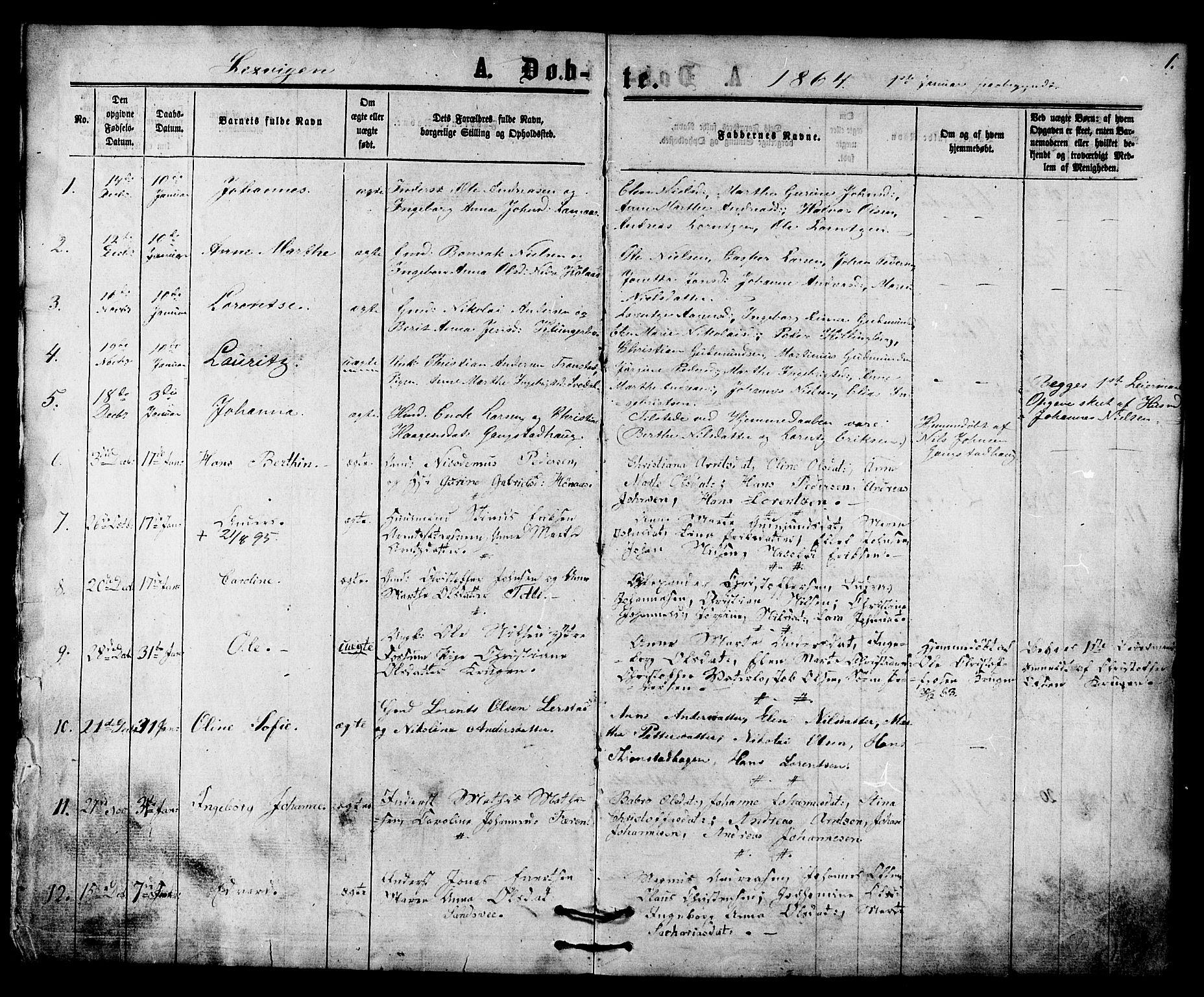 SAT, Ministerialprotokoller, klokkerbøker og fødselsregistre - Nord-Trøndelag, 701/L0009: Parish register (official) no. 701A09 /1, 1864-1882, p. 1