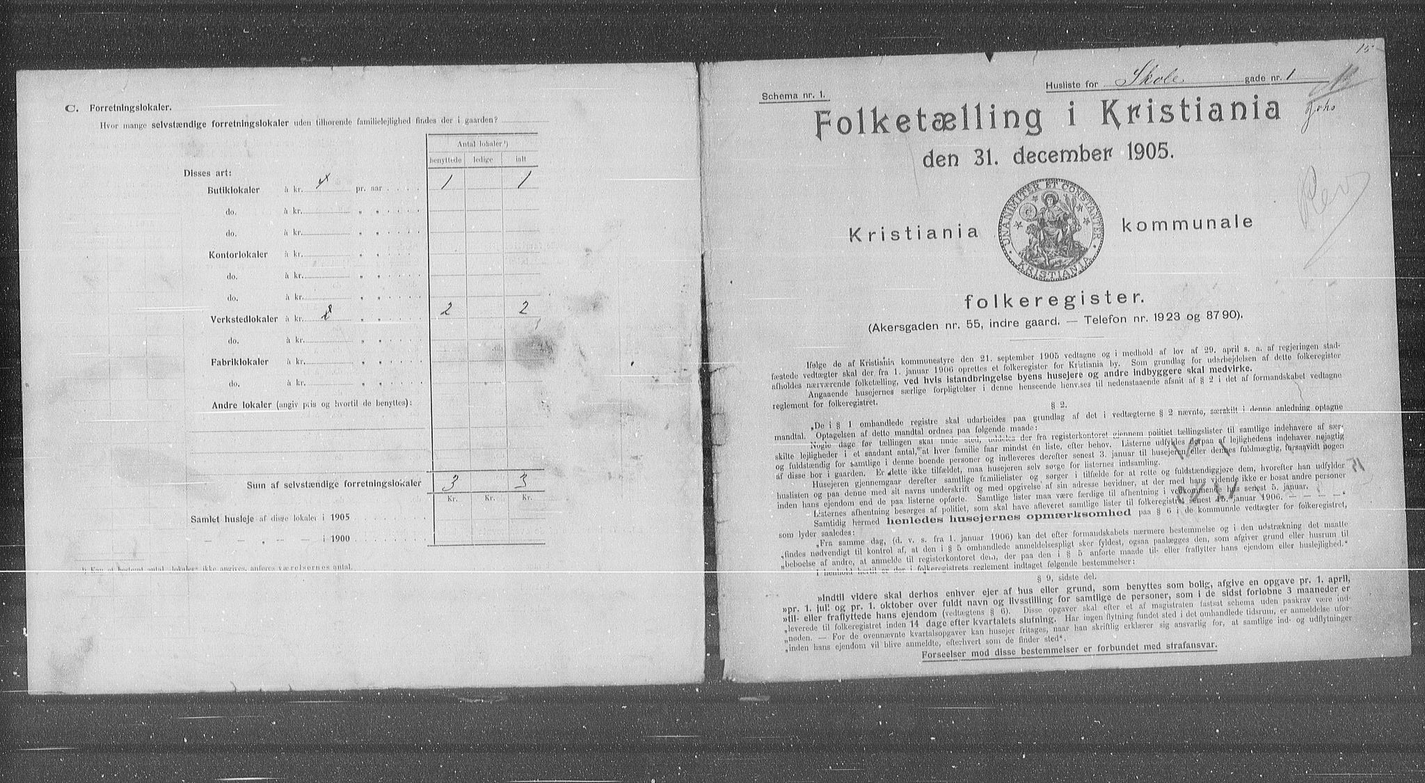 OBA, Municipal Census 1905 for Kristiania, 1905, p. 49897