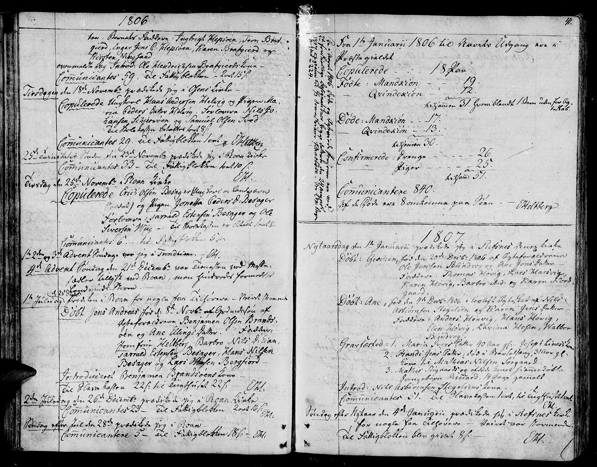 SAT, Ministerialprotokoller, klokkerbøker og fødselsregistre - Sør-Trøndelag, 657/L0701: Parish register (official) no. 657A02, 1802-1831, p. 41