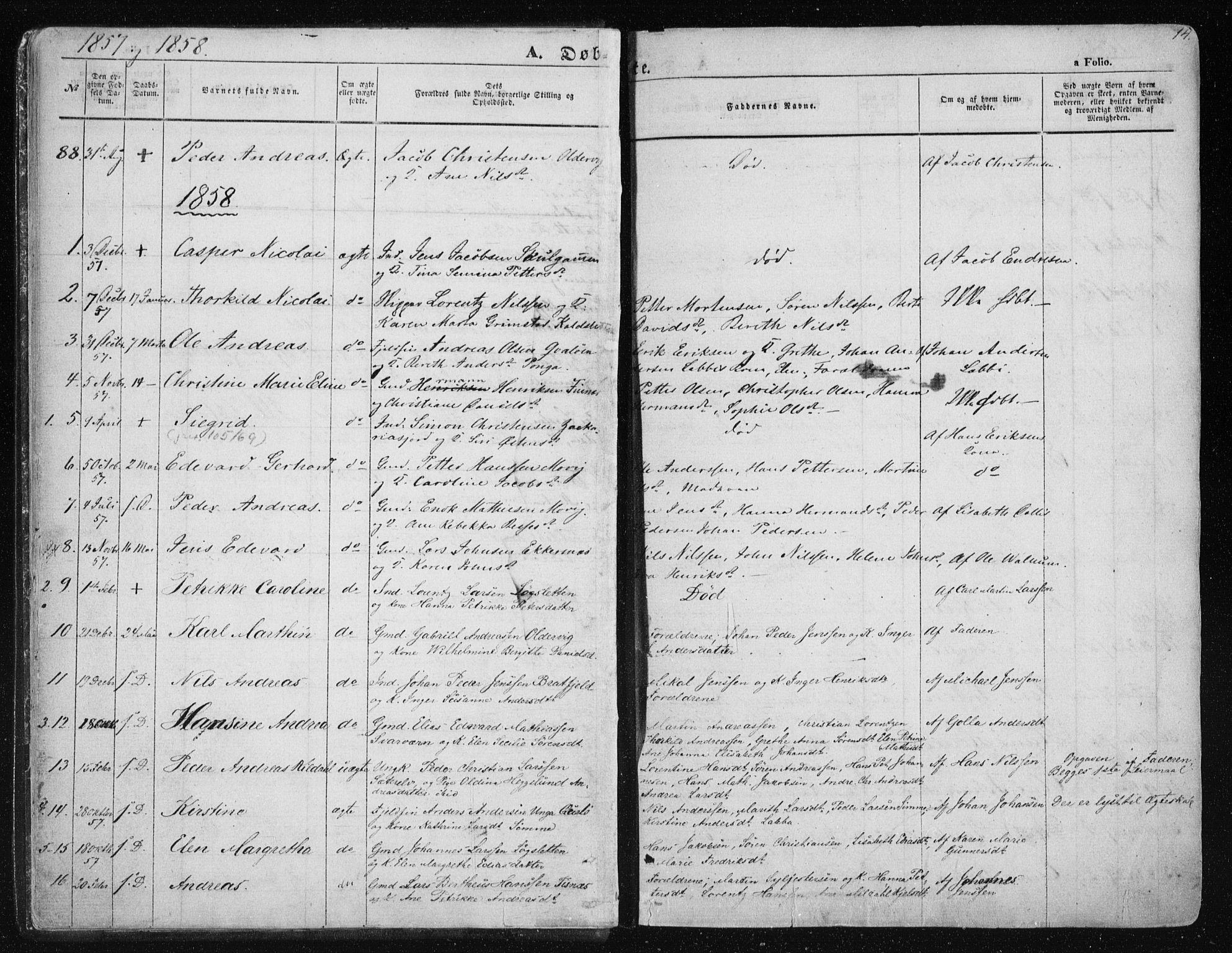 SATØ, Tromsøysund sokneprestkontor, G/Ga/L0001kirke: Parish register (official) no. 1, 1856-1867, p. 14