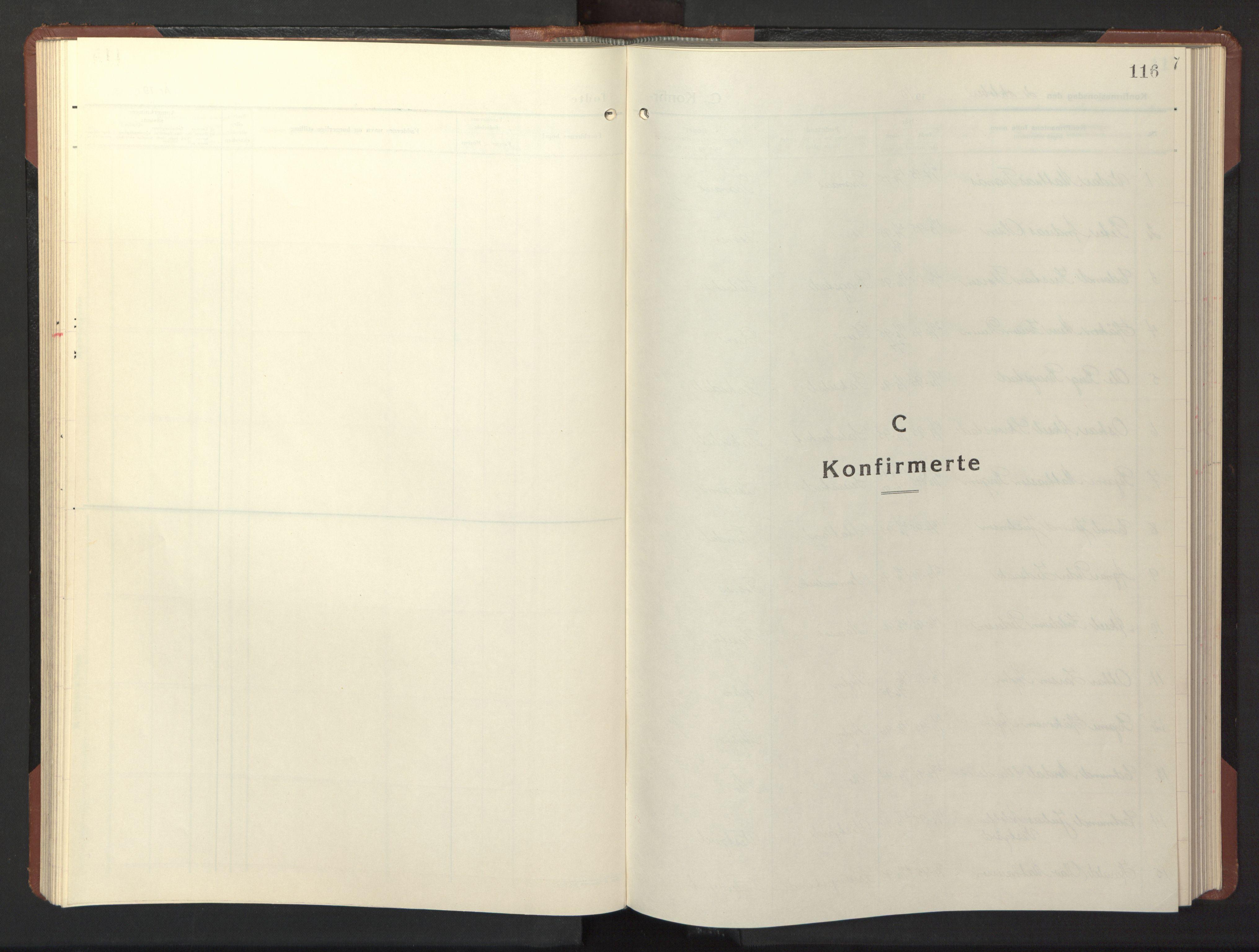 SAT, Ministerialprotokoller, klokkerbøker og fødselsregistre - Nord-Trøndelag, 773/L0625: Parish register (copy) no. 773C01, 1910-1952, p. 116