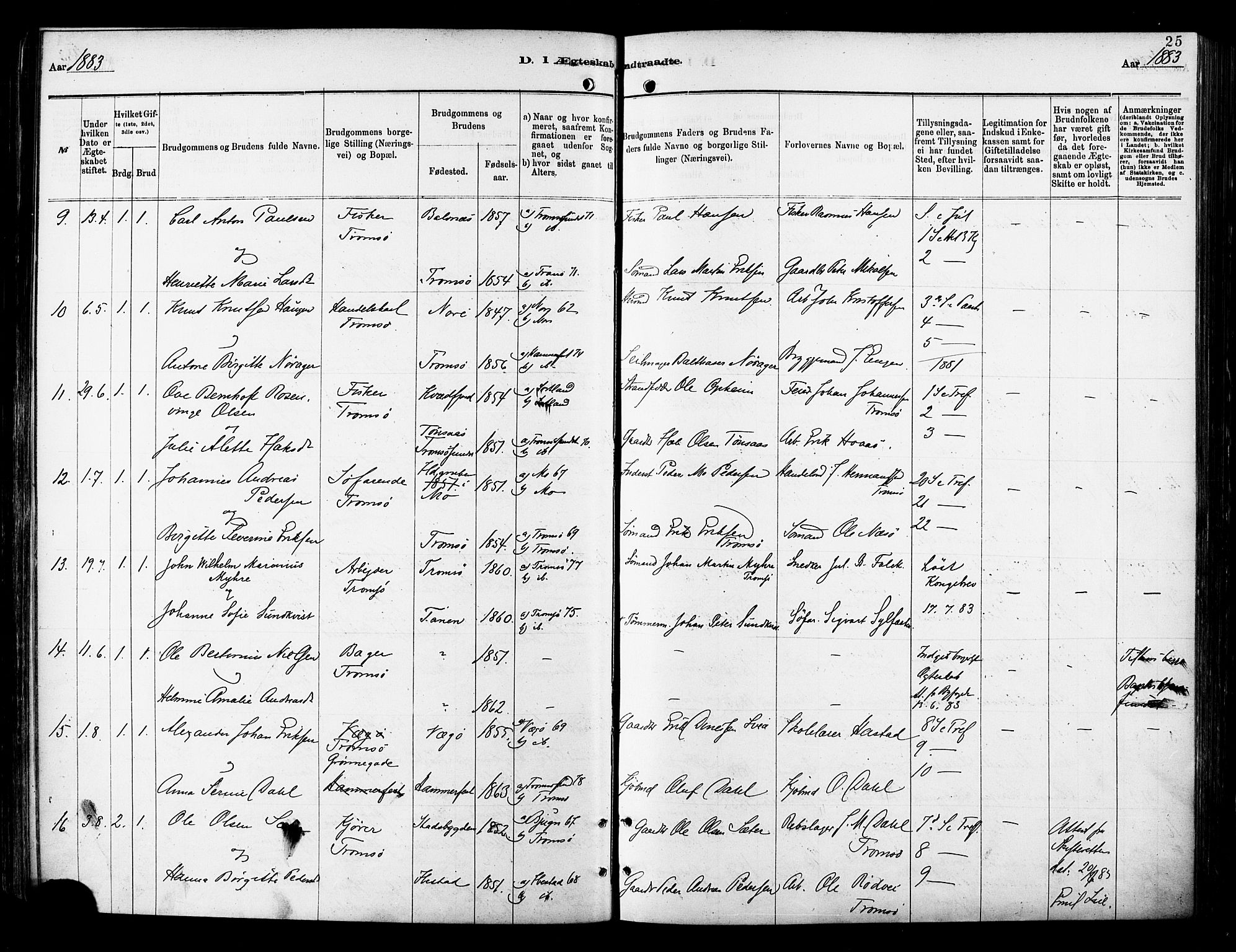 SATØ, Tromsø sokneprestkontor/stiftsprosti/domprosti, G/Ga/L0014kirke: Parish register (official) no. 14, 1878-1888, p. 25