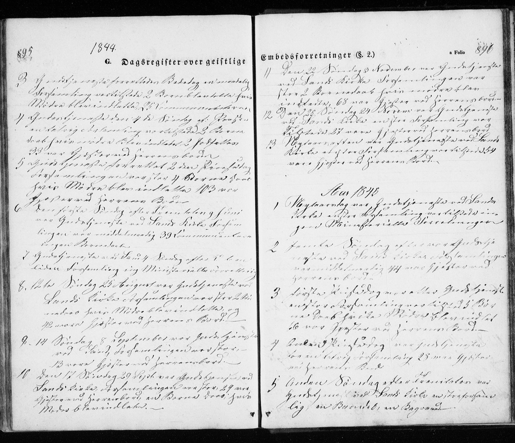 SATØ, Trondenes sokneprestkontor, H/Ha/L0010kirke: Parish register (official) no. 10, 1840-1865, p. 895-896