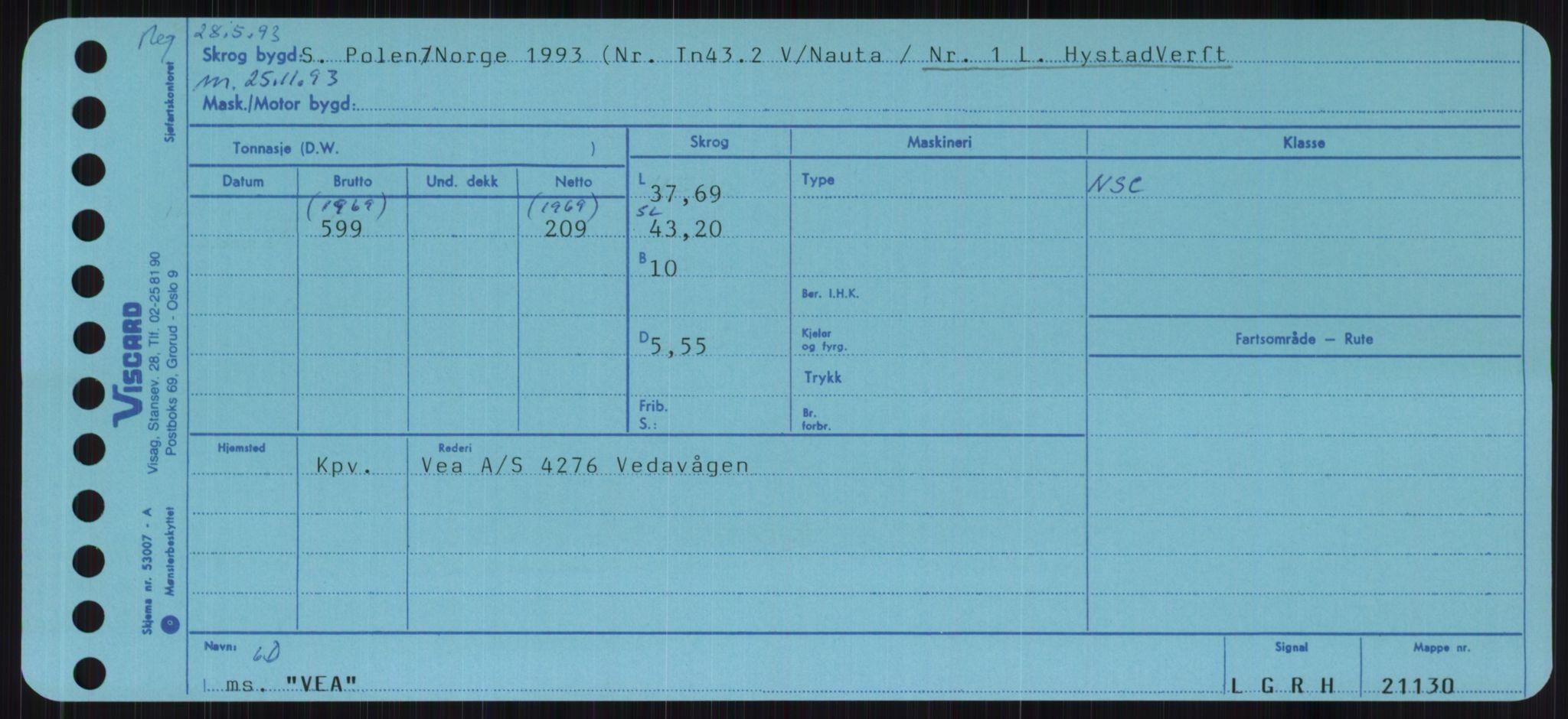RA, Sjøfartsdirektoratet med forløpere, Skipsmålingen, H/Ha/L0006: Fartøy, Sver-Å, p. 183