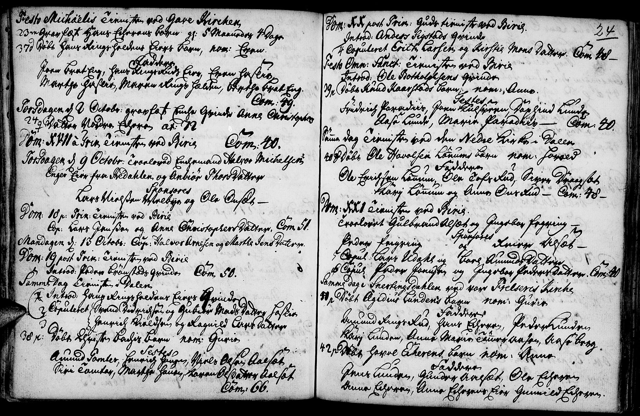 SAH, Biri prestekontor, Parish register (official) no. 1, 1730-1754, p. 24