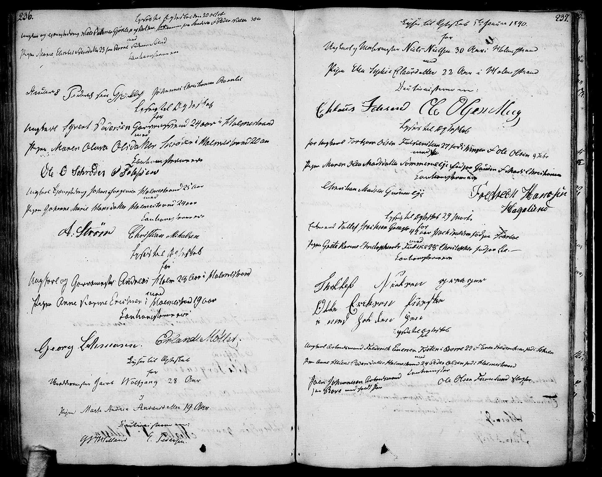 SAKO, Botne kirkebøker, F/Fa/L0003: Parish register (official) no. I 3 /1, 1792-1844, p. 236-237