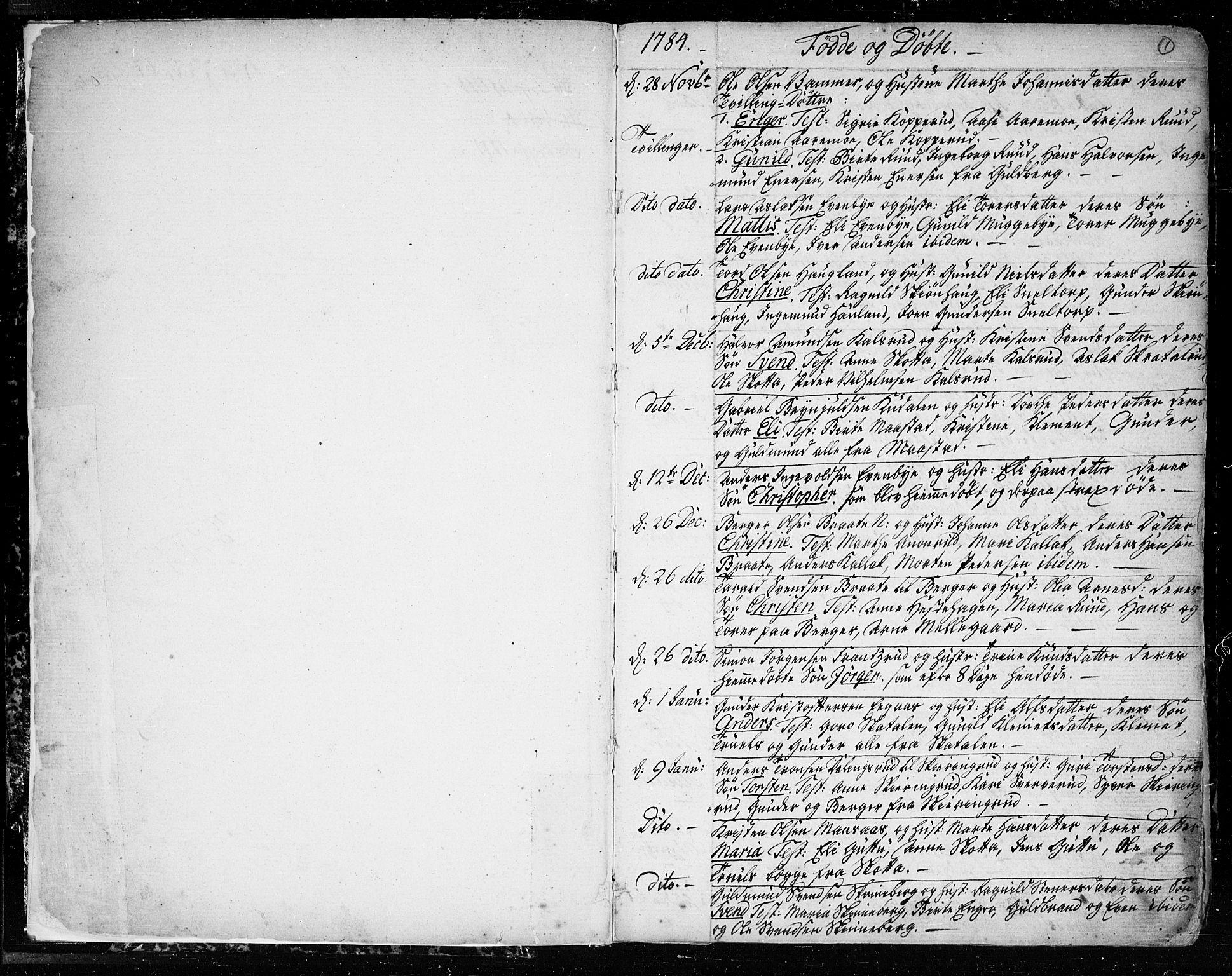 SAO, Trøgstad prestekontor Kirkebøker, F/Fa/L0005: Parish register (official) no. I 5, 1784-1814, p. 1