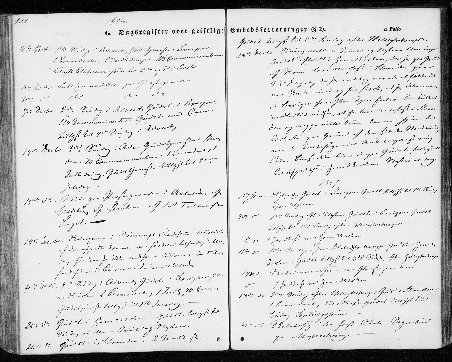 SAT, Ministerialprotokoller, klokkerbøker og fødselsregistre - Nord-Trøndelag, 701/L0008: Parish register (official) no. 701A08 /1, 1854-1863, p. 428