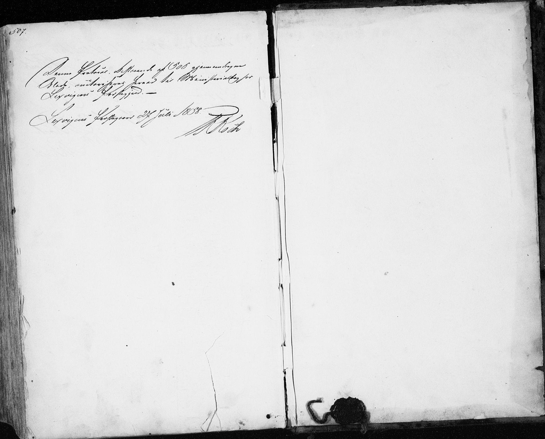 SAT, Ministerialprotokoller, klokkerbøker og fødselsregistre - Nord-Trøndelag, 701/L0008: Parish register (official) no. 701A08 /1, 1854-1863, p. 507
