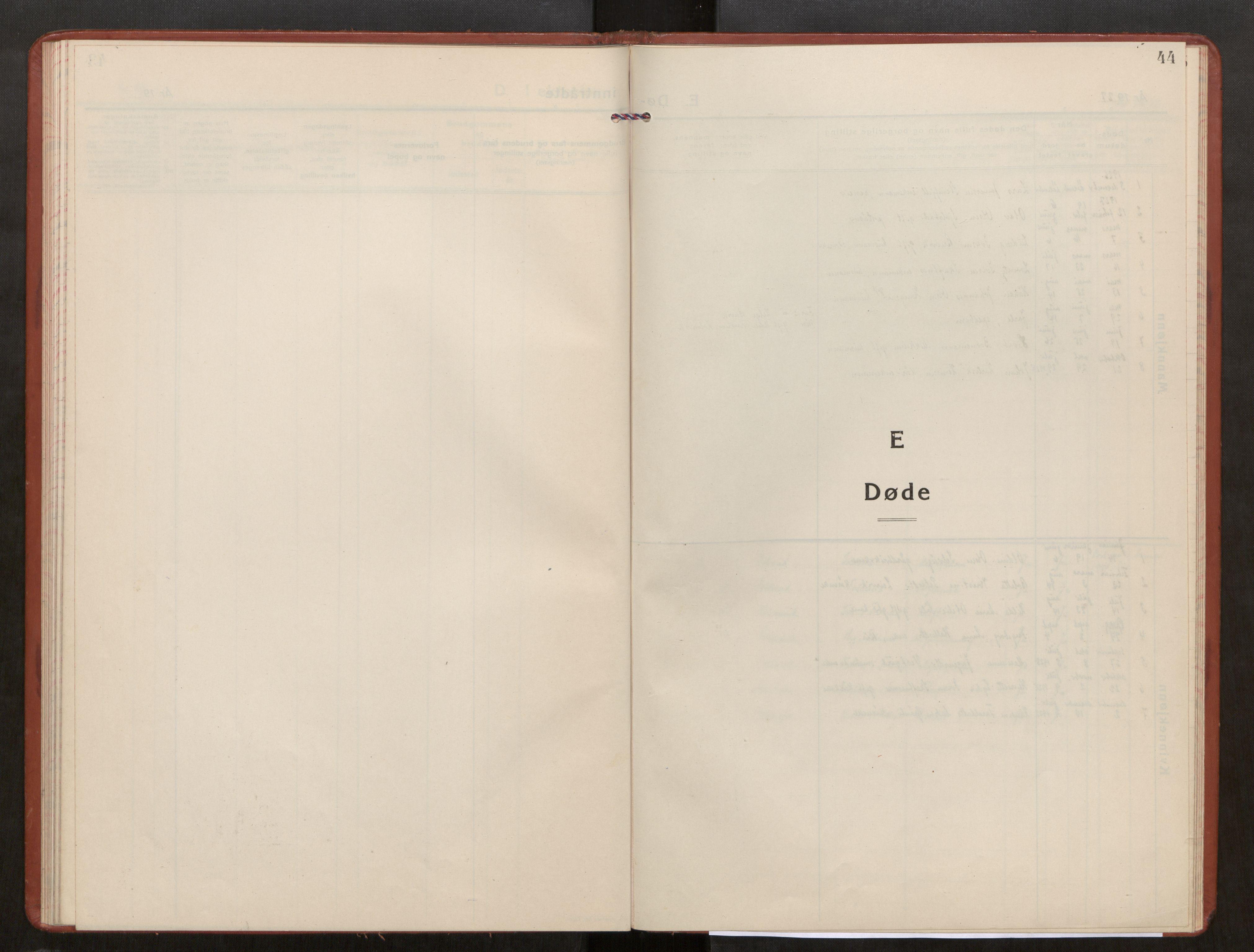 SAT, Kolvereid sokneprestkontor, H/Ha/Haa/L0003: Parish register (official) no. 3, 1927-1935, p. 44
