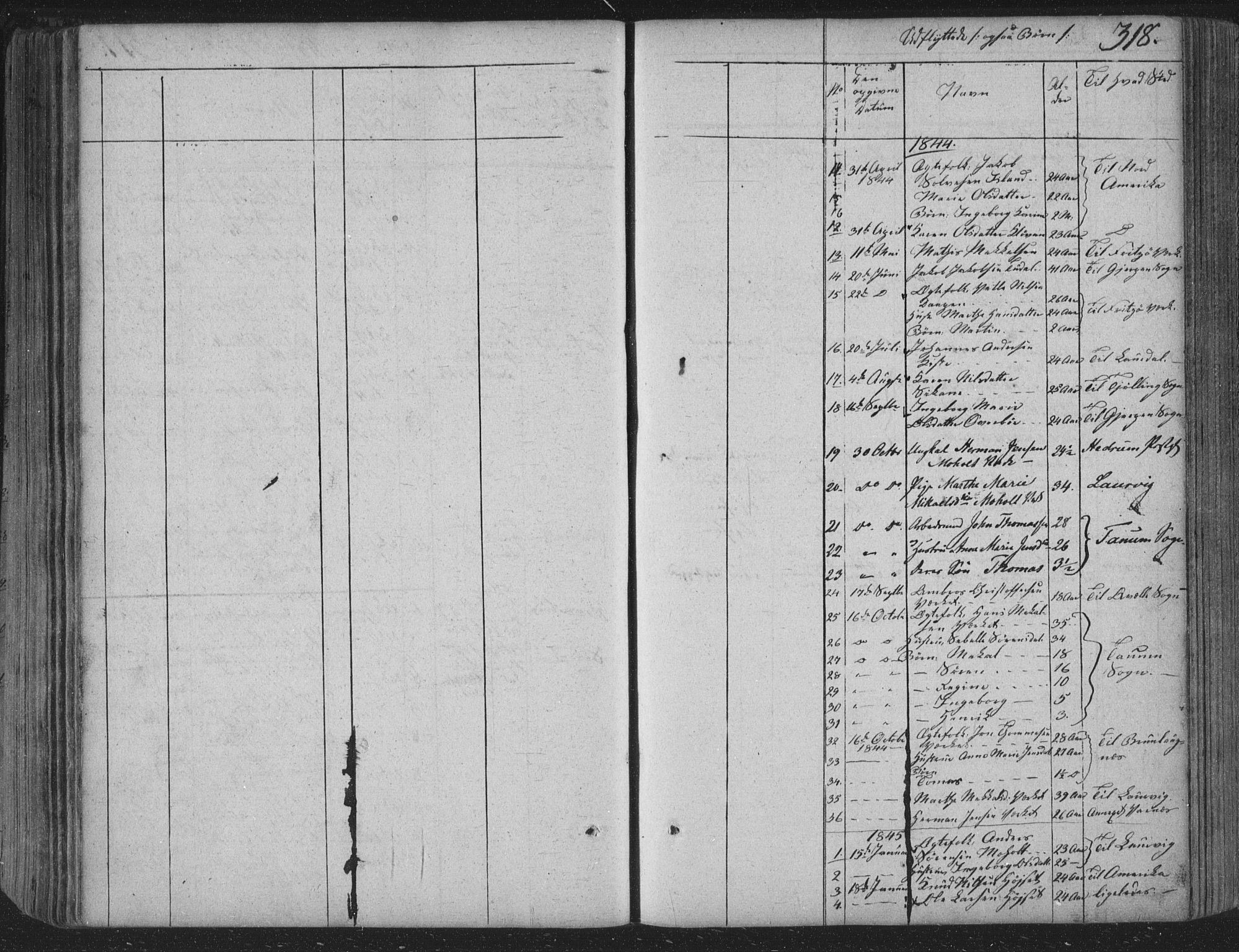 SAKO, Siljan kirkebøker, F/Fa/L0001: Parish register (official) no. 1, 1831-1870, p. 318