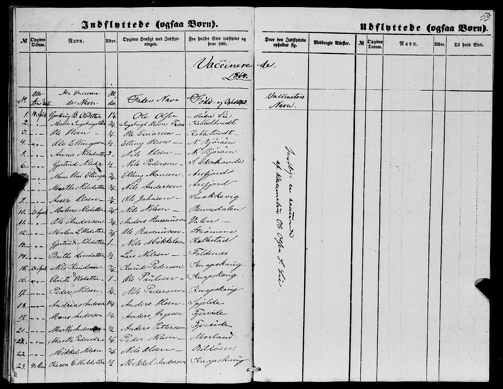 SAB, Fjell sokneprestembete, H/Haa: Parish register (official) no. A 4, 1851-1870, p. 59