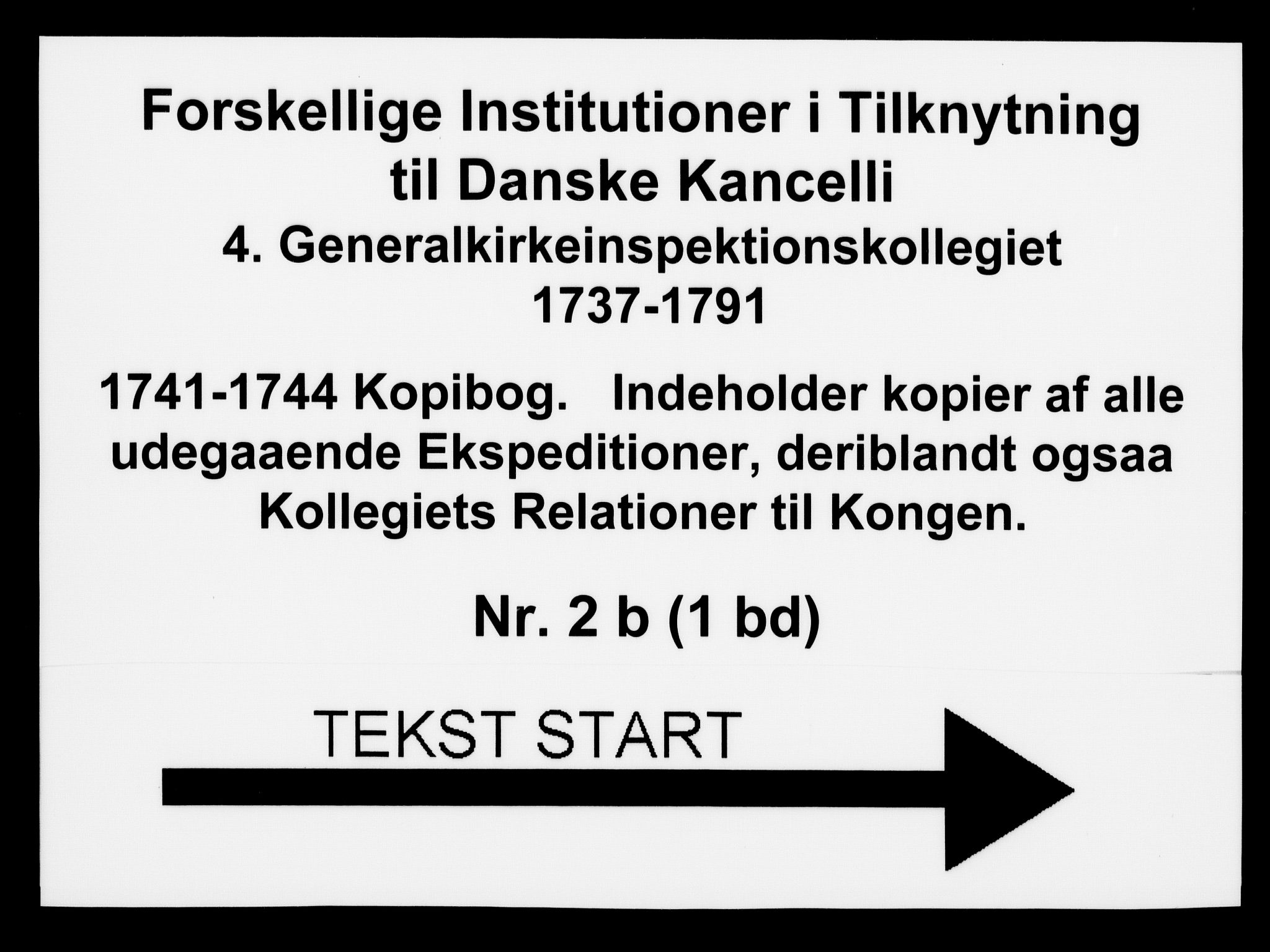 DRA, Generalkirkeinspektionskollegiet, F4-02/F4-02-02: Kopibog, 1741-1744