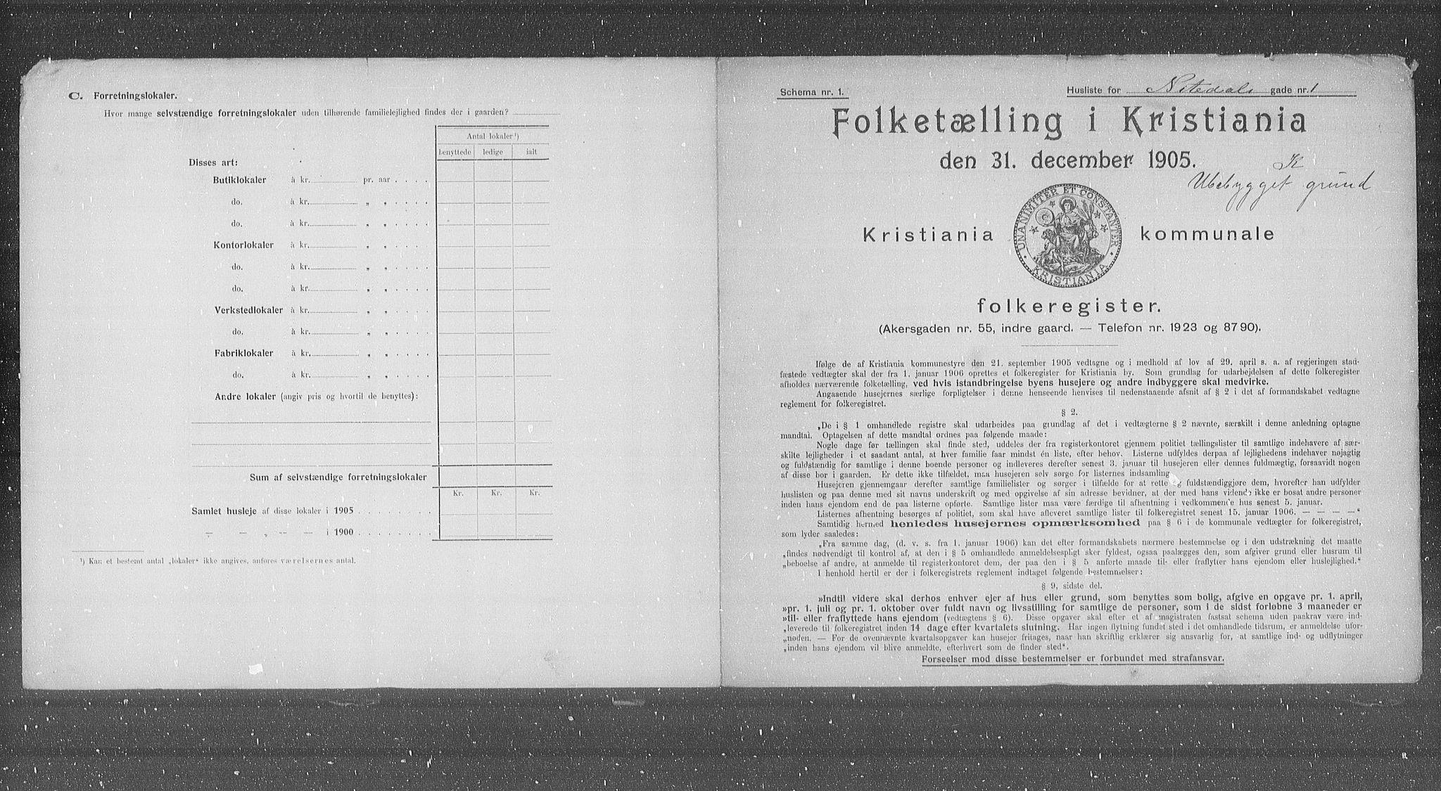 OBA, Municipal Census 1905 for Kristiania, 1905, p. 37446