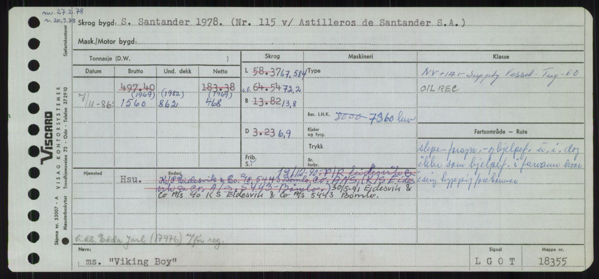 RA, Sjøfartsdirektoratet med forløpere, Skipsmålingen, H/Ha/L0006: Fartøy, Sver-Å, p. 455
