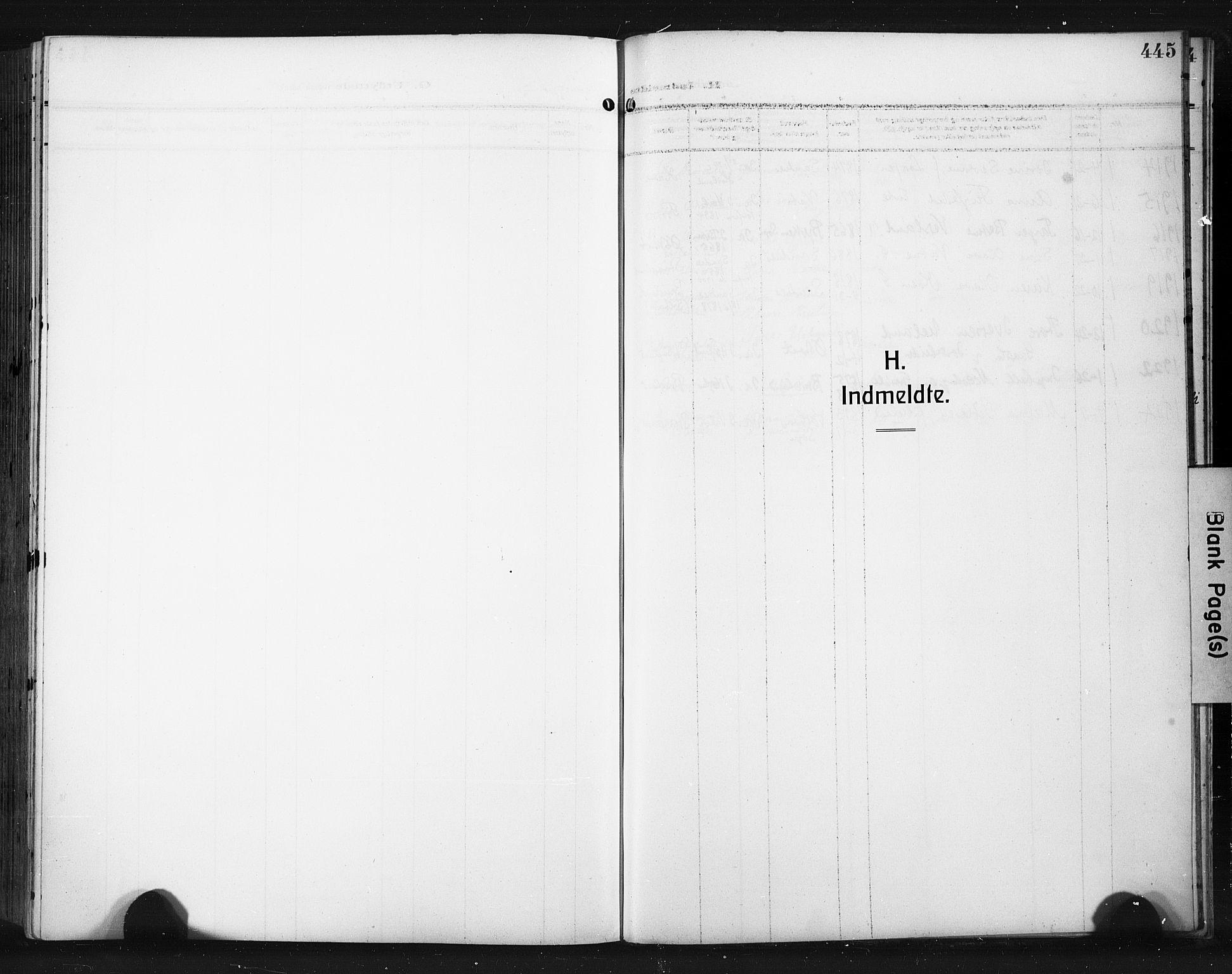 SAST, Høyland sokneprestkontor, 30BA/L0017: Parish register (official) no. A 15, 1912-1924, p. 445
