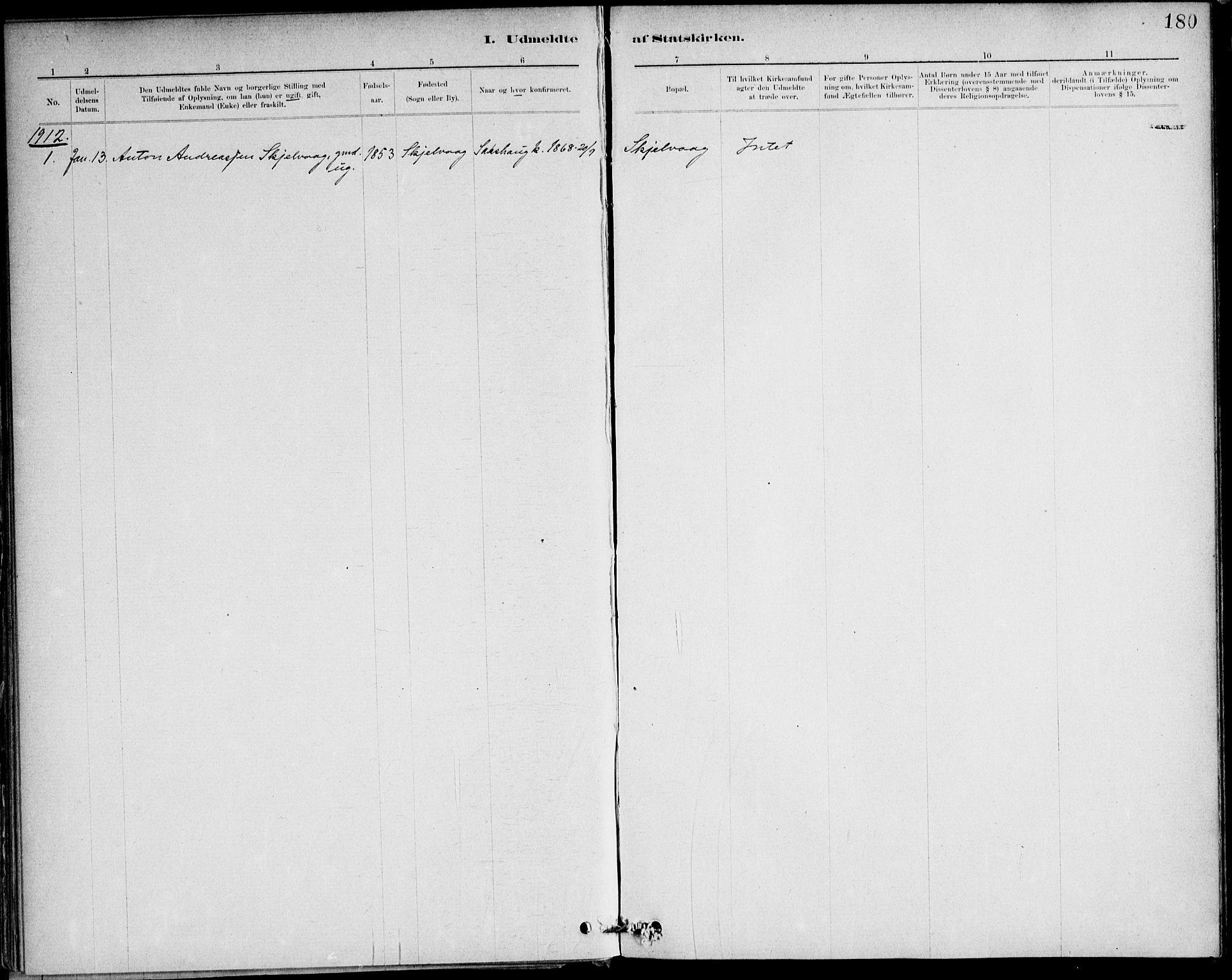 SAT, Ministerialprotokoller, klokkerbøker og fødselsregistre - Nord-Trøndelag, 732/L0316: Parish register (official) no. 732A01, 1879-1921, p. 180