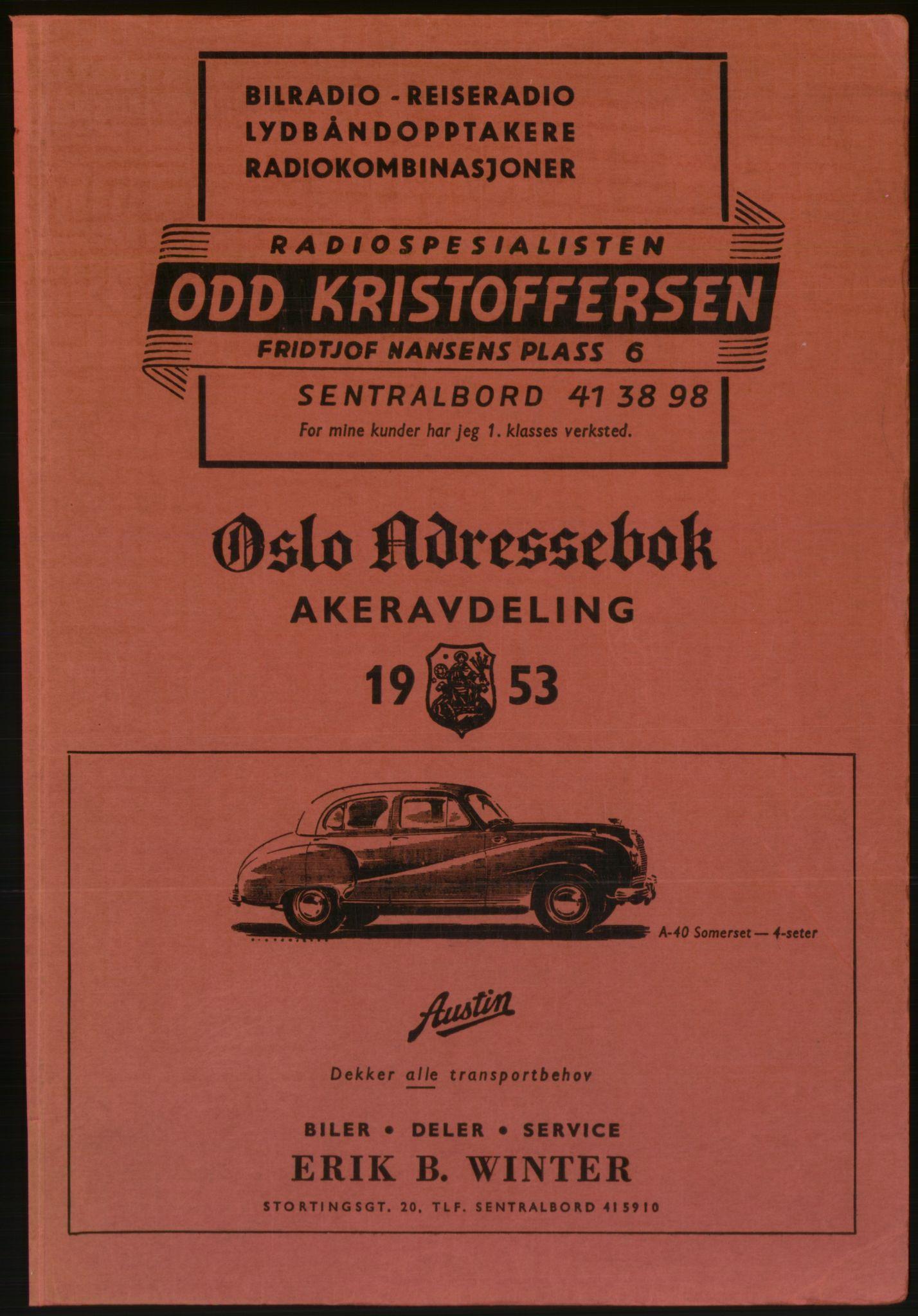 RA, Oslo adressebok (publikasjon)*, 1953