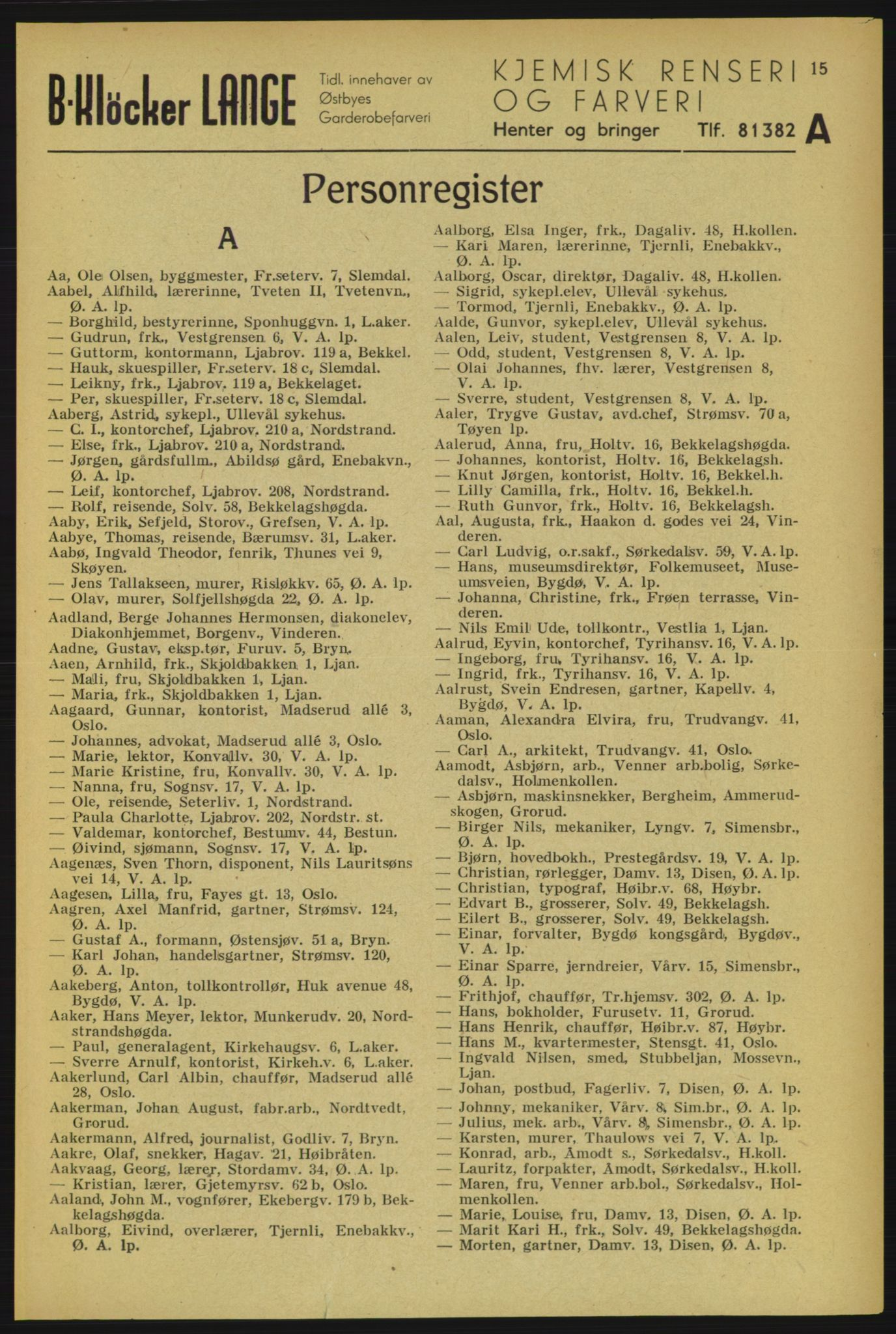 RA, Aker adressebok/adressekalender (publikasjon)*, 1934-1935, p. 15