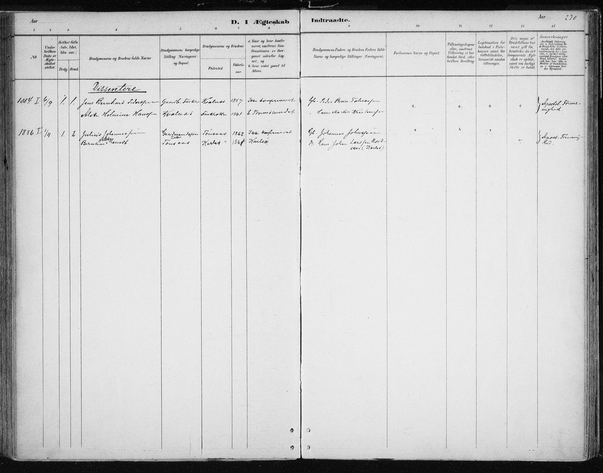 SATØ, Tromsøysund sokneprestkontor, G/Ga/L0004kirke: Parish register (official) no. 4, 1880-1888, p. 230