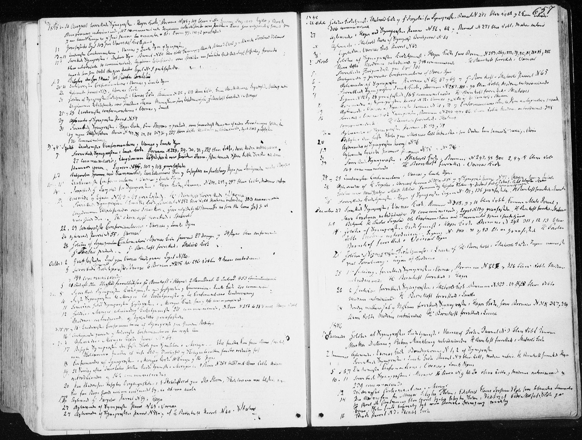 SAT, Ministerialprotokoller, klokkerbøker og fødselsregistre - Nord-Trøndelag, 709/L0074: Parish register (official) no. 709A14, 1845-1858, p. 657