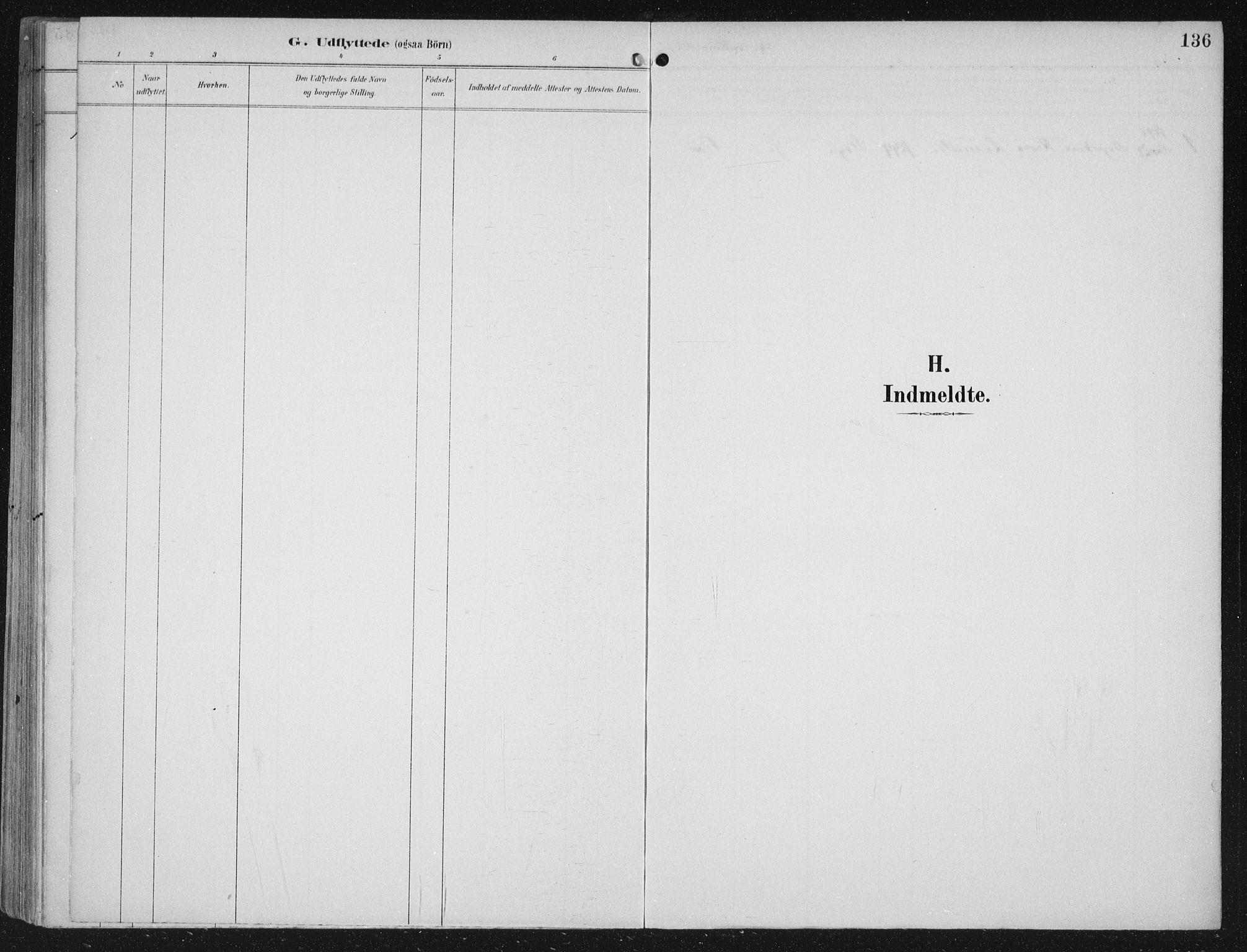 SAB, Kinn sokneprestembete, H/Haa/Haac/L0002: Parish register (official) no. C  2, 1895-1916, p. 136