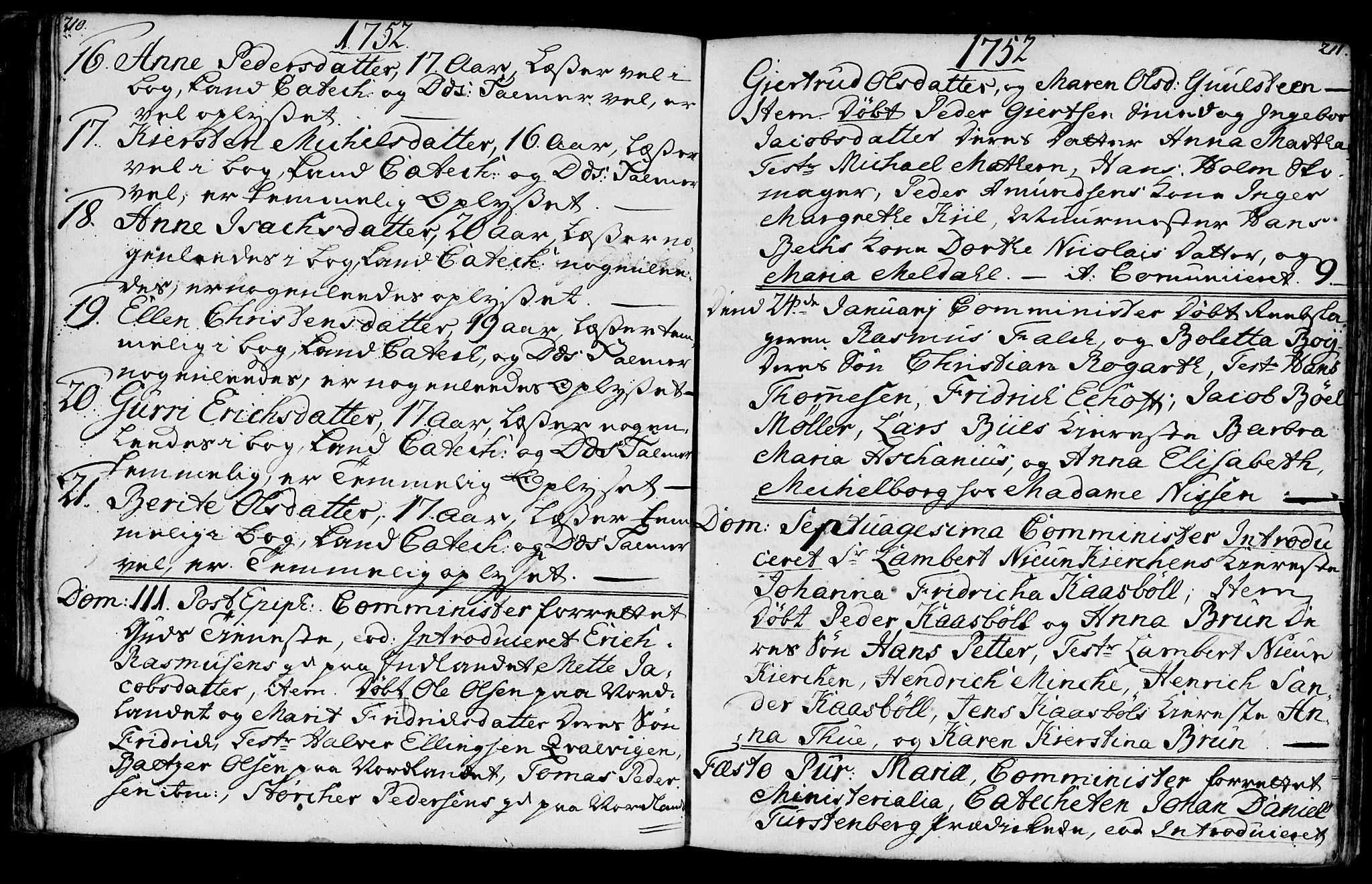 SAT, Ministerialprotokoller, klokkerbøker og fødselsregistre - Møre og Romsdal, 572/L0839: Parish register (official) no. 572A02, 1739-1754, p. 210-211