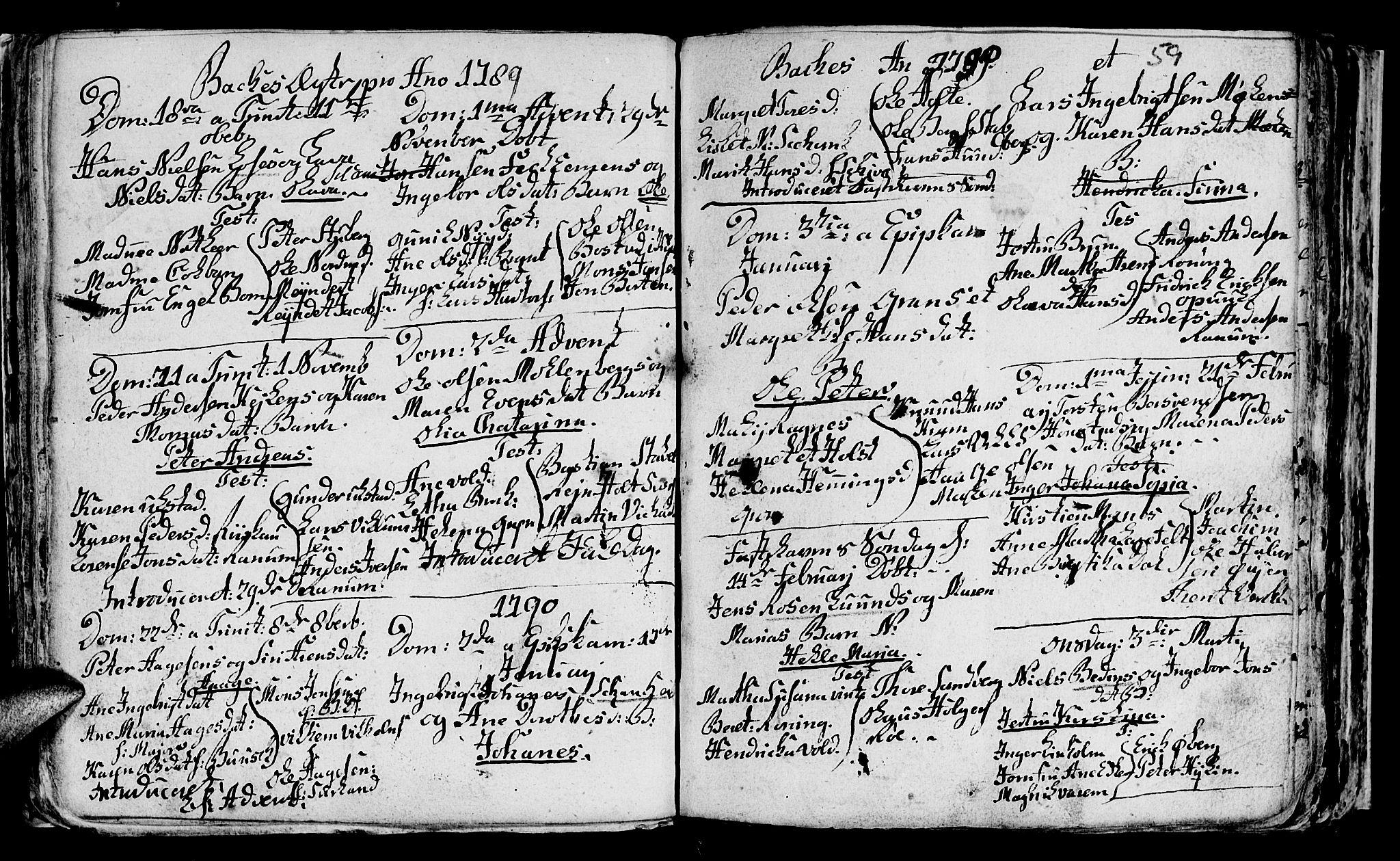 SAT, Ministerialprotokoller, klokkerbøker og fødselsregistre - Sør-Trøndelag, 604/L0218: Parish register (copy) no. 604C01, 1754-1819, p. 59