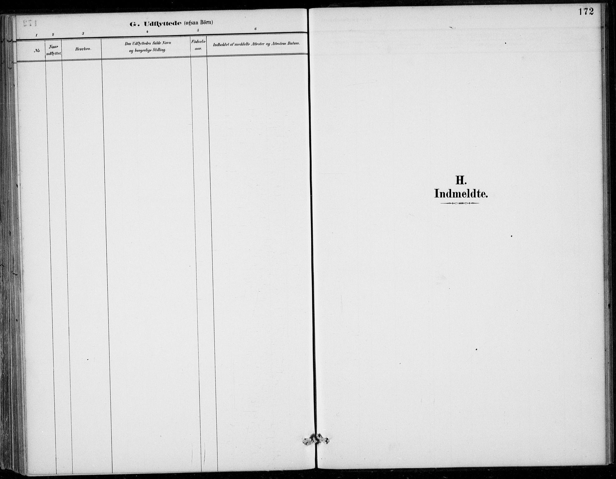 SAB, Strandebarm sokneprestembete, H/Haa: Parish register (official) no. D  1, 1886-1912, p. 172