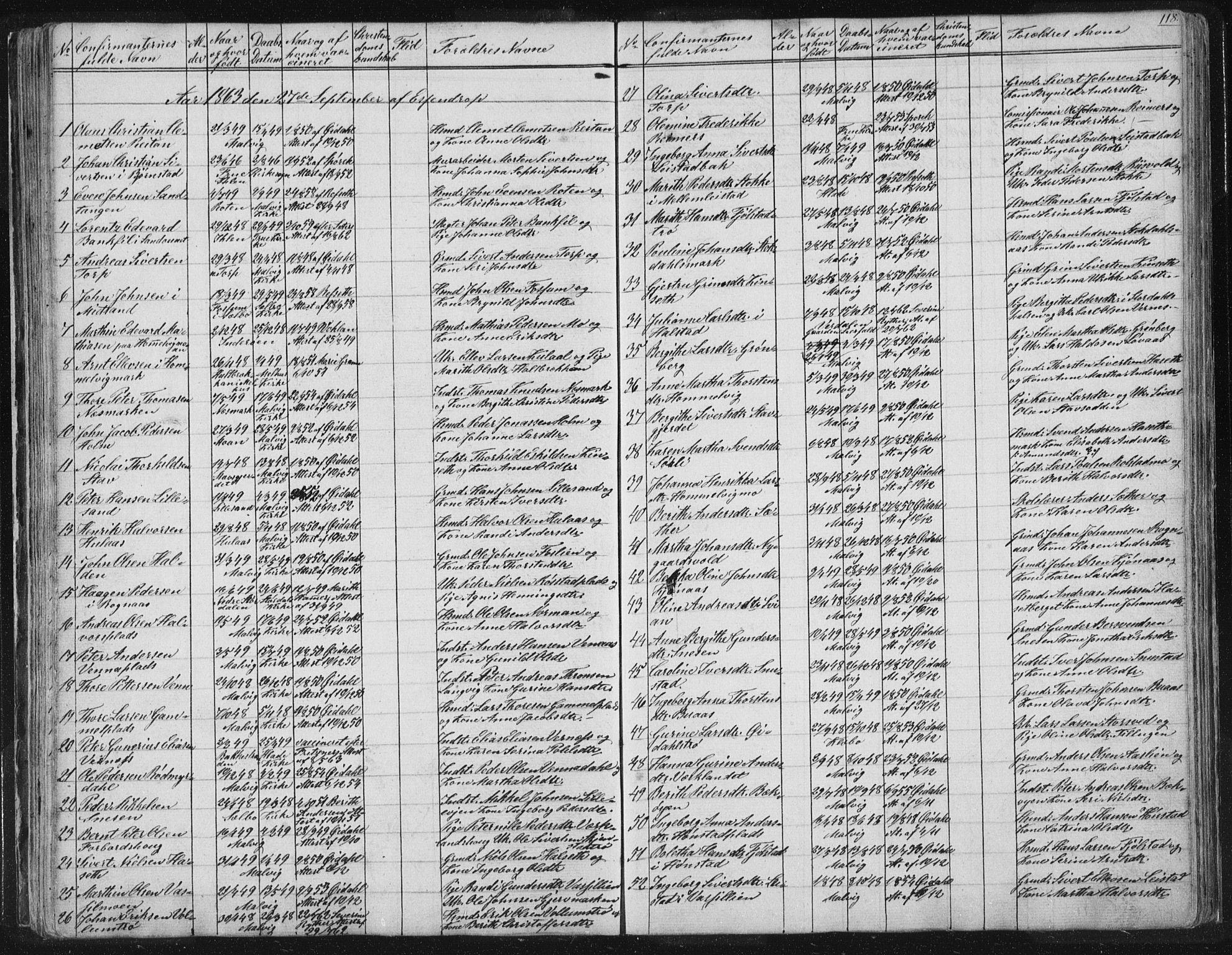 SAT, Ministerialprotokoller, klokkerbøker og fødselsregistre - Sør-Trøndelag, 616/L0406: Parish register (official) no. 616A03, 1843-1879, p. 118
