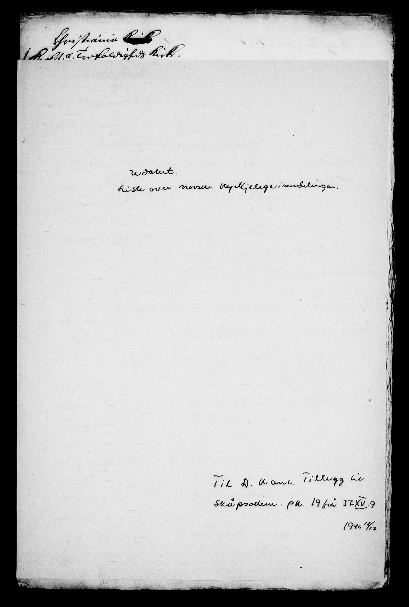 RA, Danske Kanselli, Skapsaker, G/L0019: Tillegg til skapsakene, 1616-1753, p. 320