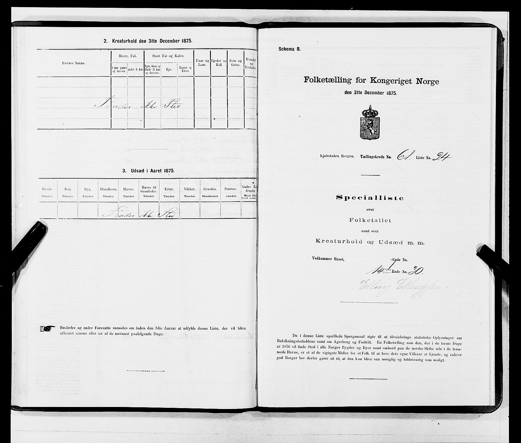 SAB, 1875 census for 1301 Bergen, 1875, p. 3275