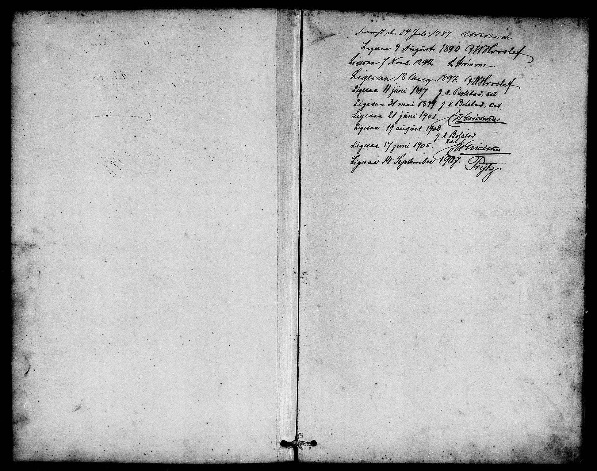 SAB, Eid Sokneprestembete, H/Hab: Parish register (copy) no. C 2, 1887-1906, p. 1