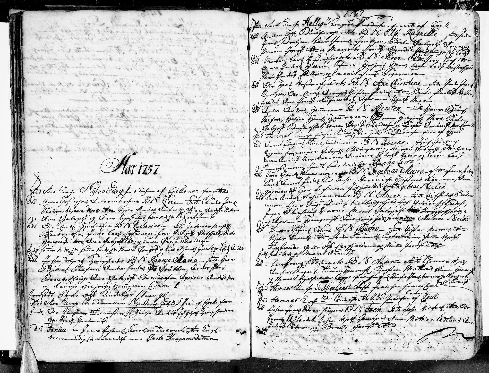 SAT, Ministerialprotokoller, klokkerbøker og fødselsregistre - Nordland, 825/L0348: Parish register (official) no. 825A04, 1752-1788, p. 57