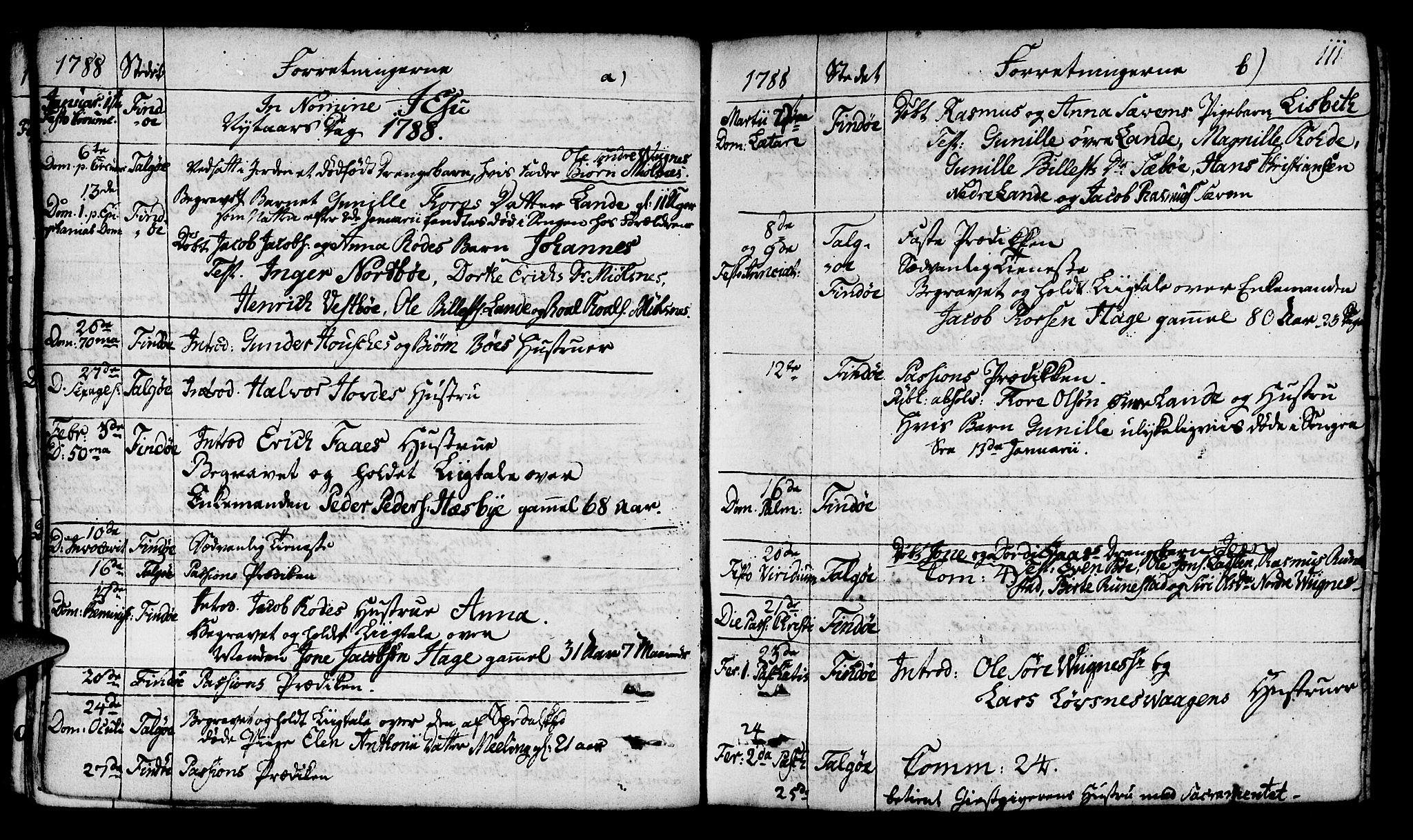 SAST, Finnøy sokneprestkontor, H/Ha/Haa/L0005: Parish register (official) no. A 5, 1773-1816, p. 111