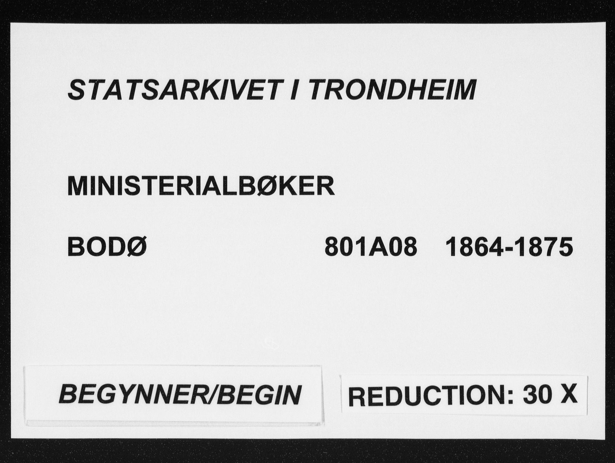 SAT, Ministerialprotokoller, klokkerbøker og fødselsregistre - Nordland, 801/L0008: Parish register (official) no. 801A08, 1864-1875