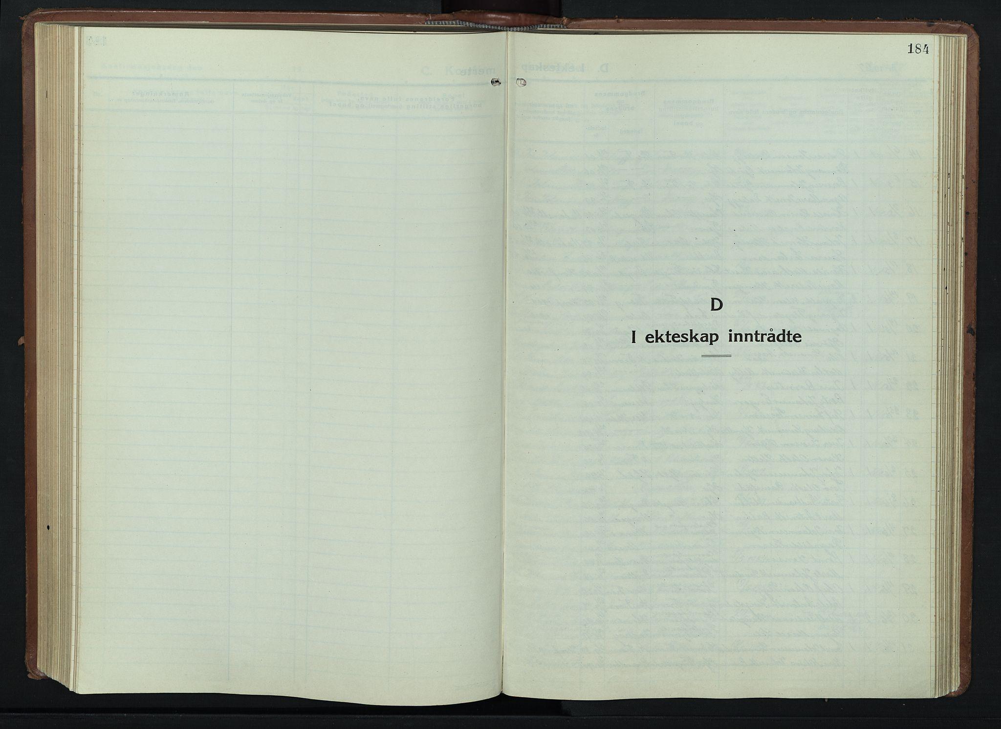 SAH, Lillehammer prestekontor, H/Ha/Hab/L0003: Parish register (copy) no. 3, 1927-1943, p. 184