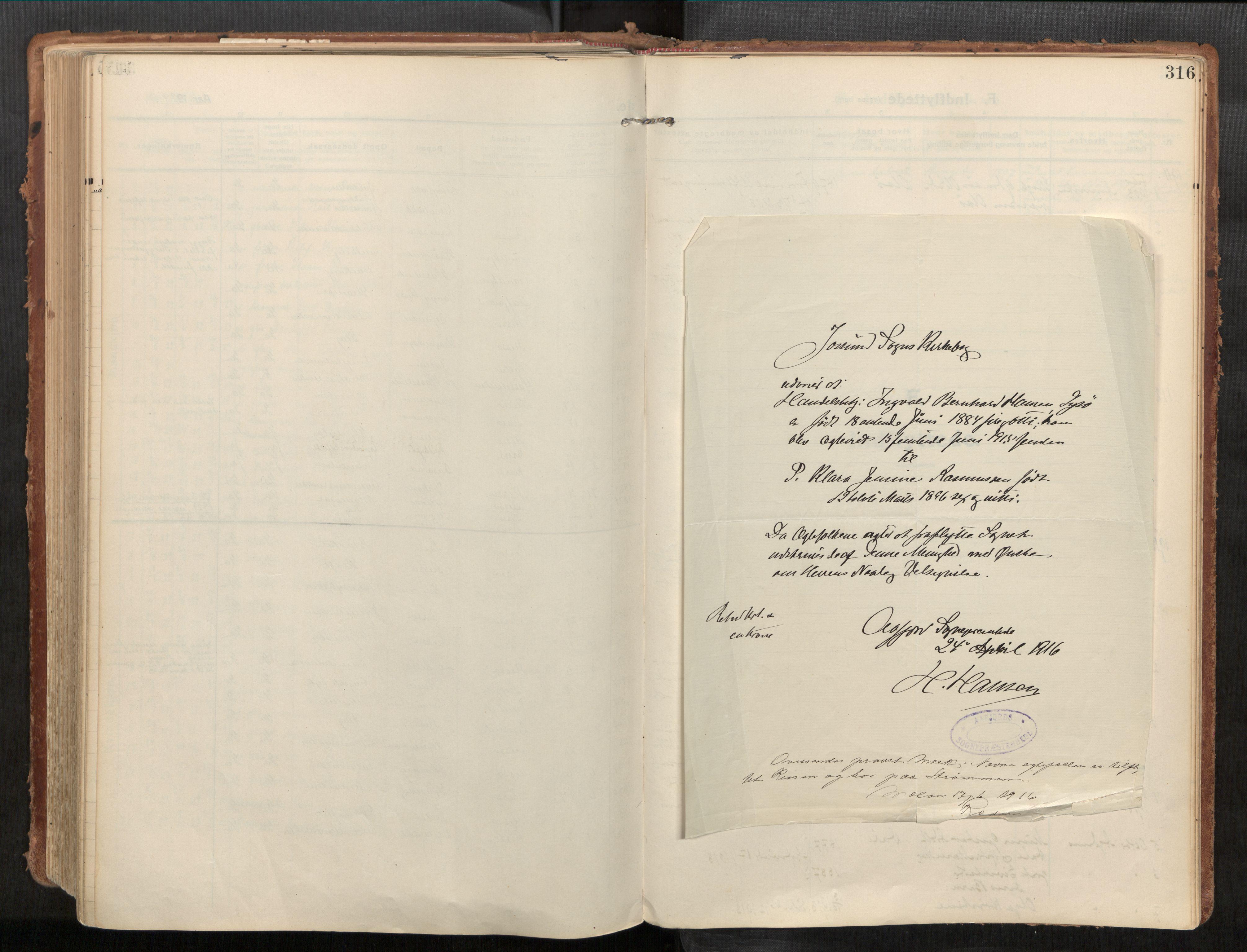 SAT, Stadsbygd sokneprestkontor, I/I1/I1a/L0001: Parish register (official) no. 1, 1911-1929