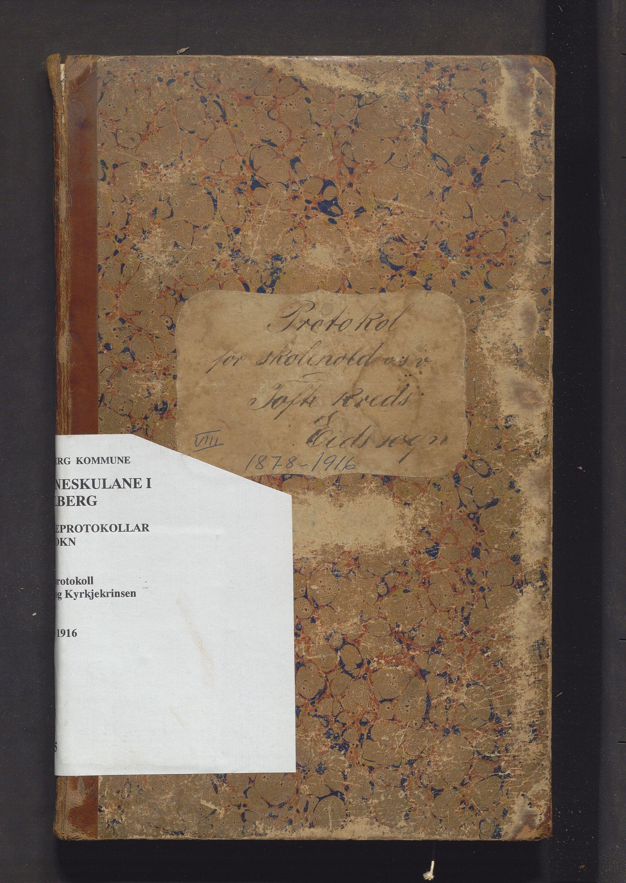 IKAH, Fjelberg kommune. Barneskulane, F/Fb/L0005: Skuleprotokoll for Tofte, Kyrkjekrinsen, Gravdal og Sætre krinsar, 1878-1916